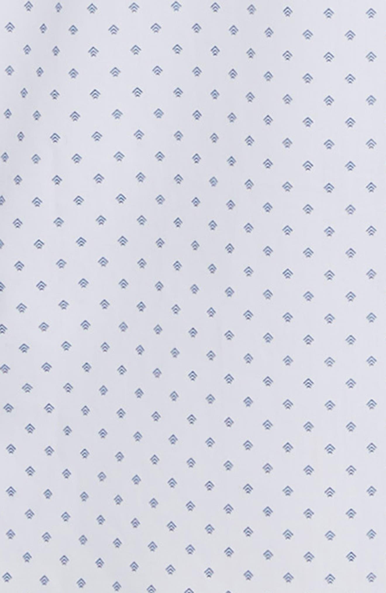 NORDSTROM MEN'S SHOP,                             Slim Fit Non-Iron Geo Print Sport Shirt,                             Alternate thumbnail 6, color,                             100
