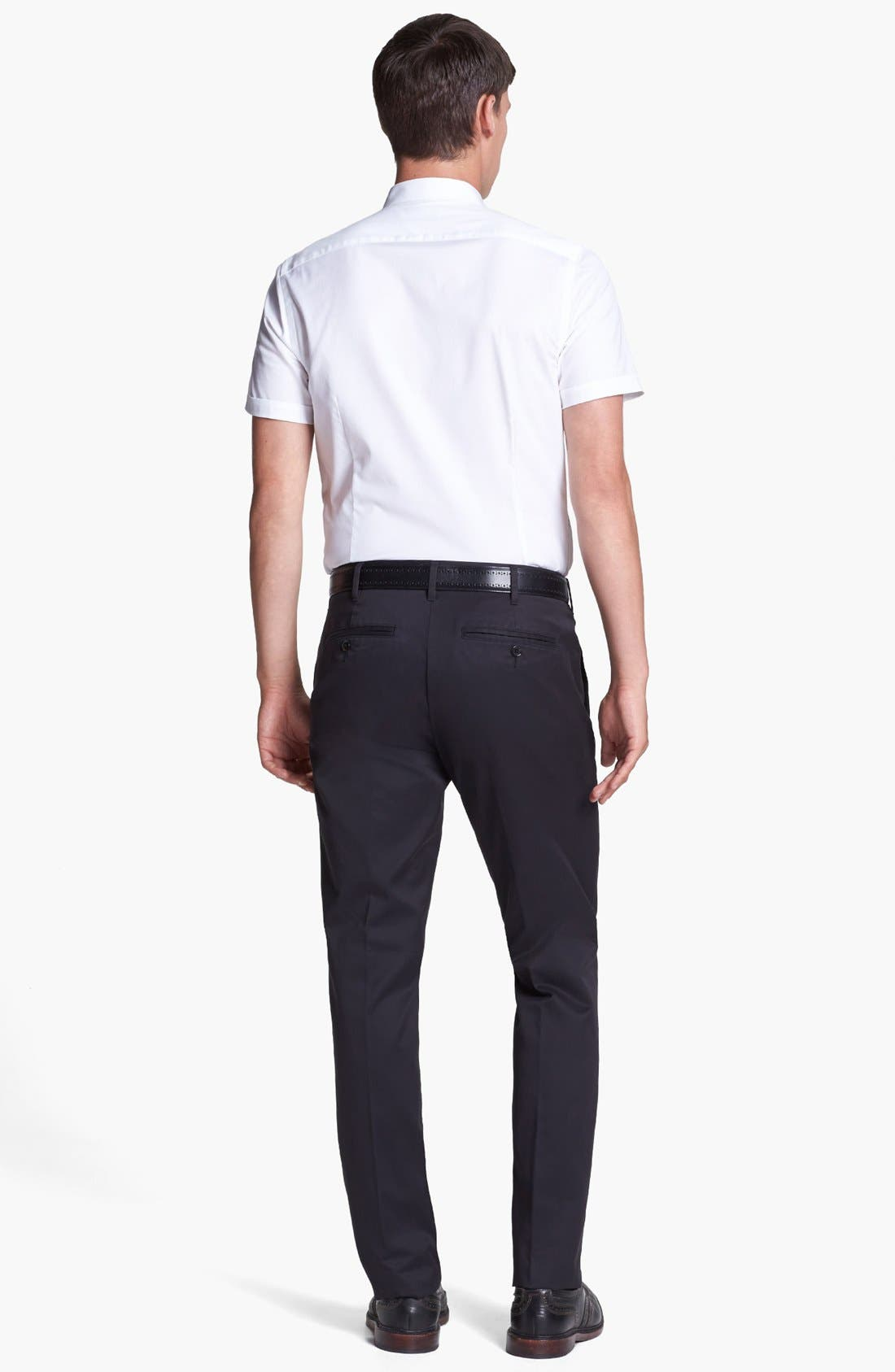 'Weekday Warriors' Non-Iron Slim Fit Cotton Chinos,                             Alternate thumbnail 4, color,                             001