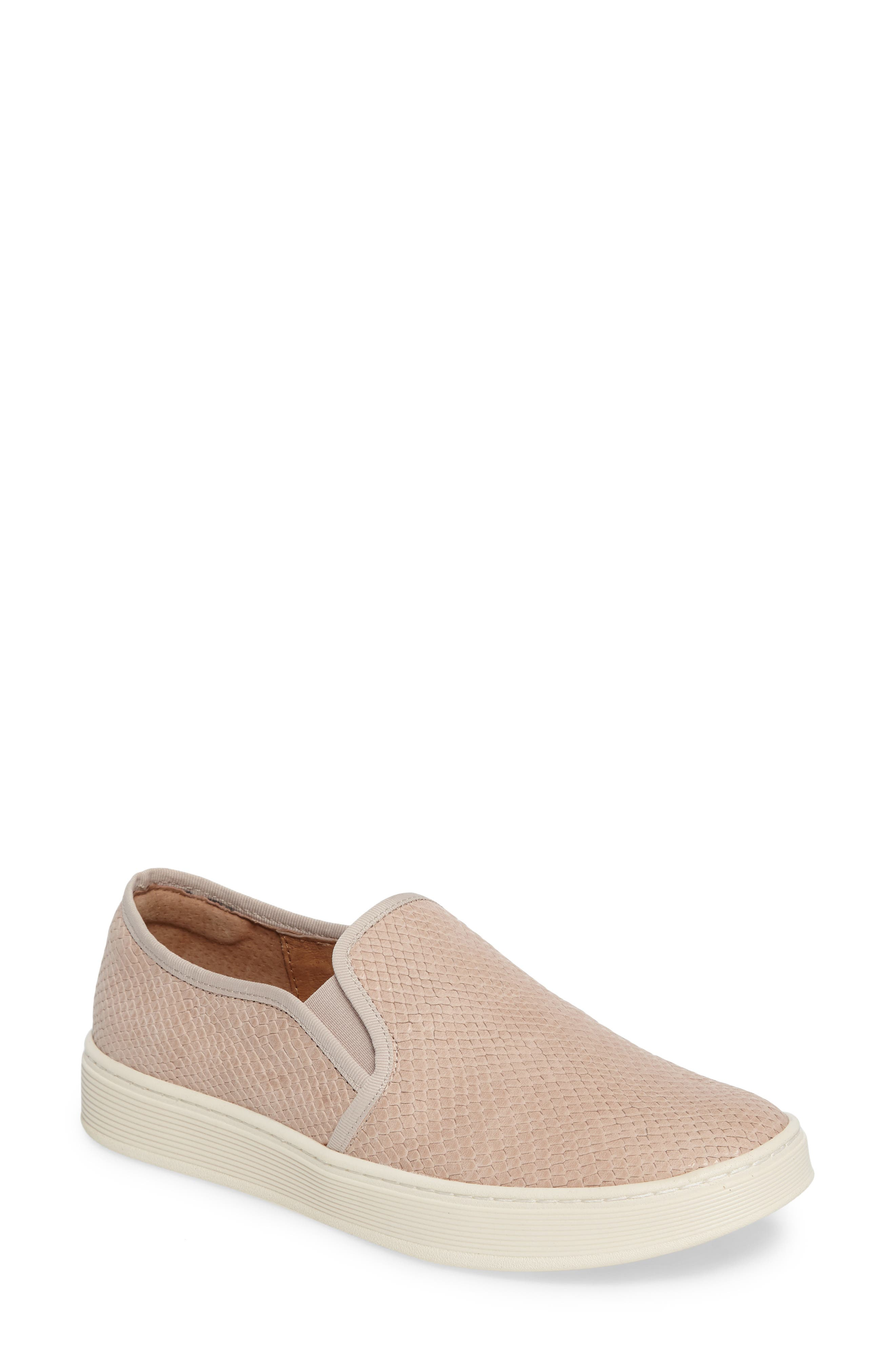 'Somers' Slip-On Sneaker,                         Main,                         color, BLUSH NUBUCK LEATHER