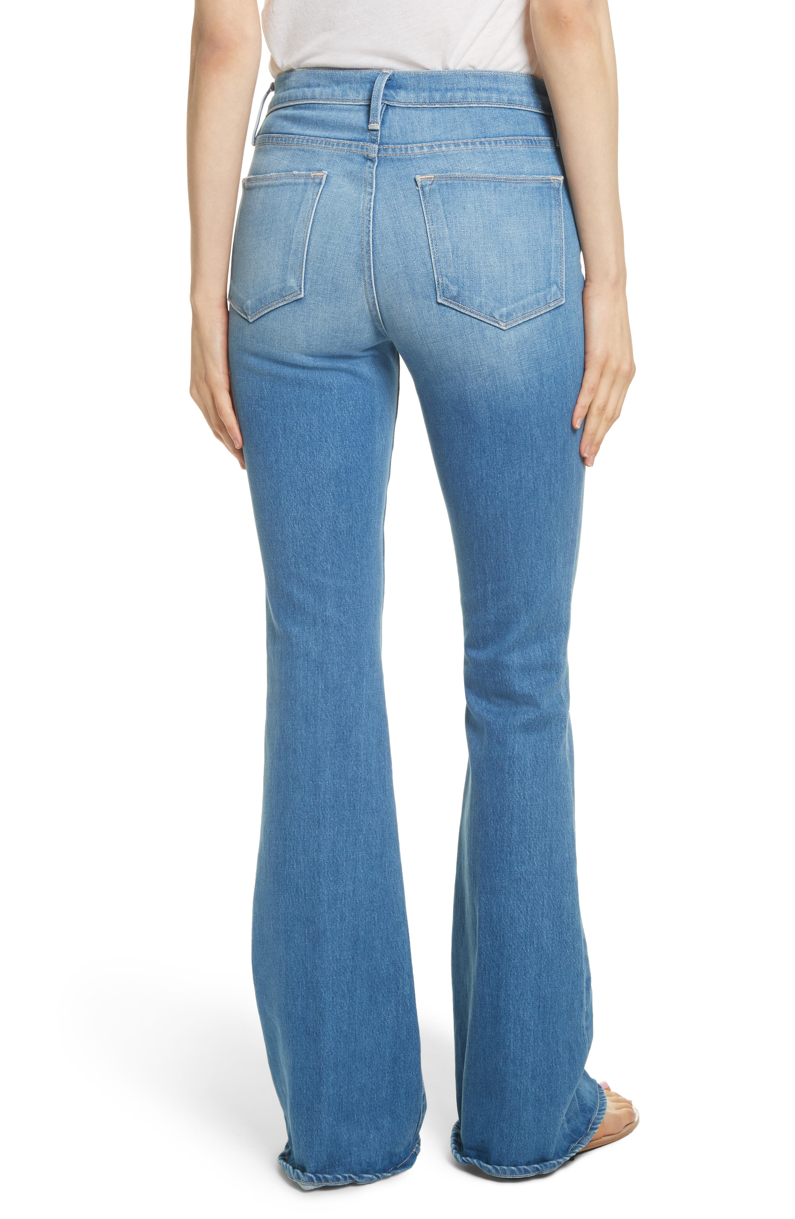 Le High Flare Jeans,                             Alternate thumbnail 2, color,                             BRIGHTWALTON