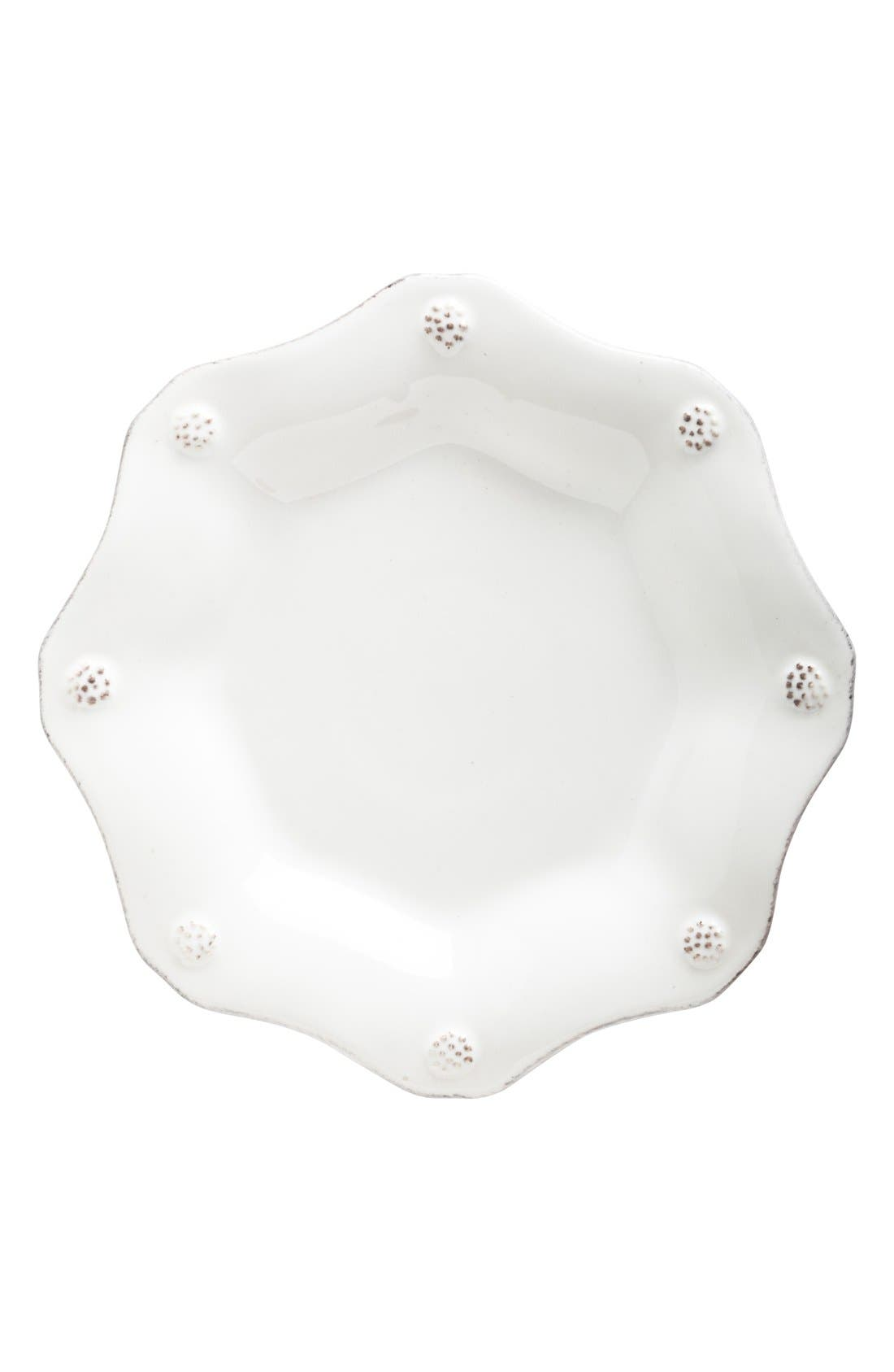 'Berry and Thread' Scalloped Tea Plate,                             Main thumbnail 1, color,                             WHITEWASH