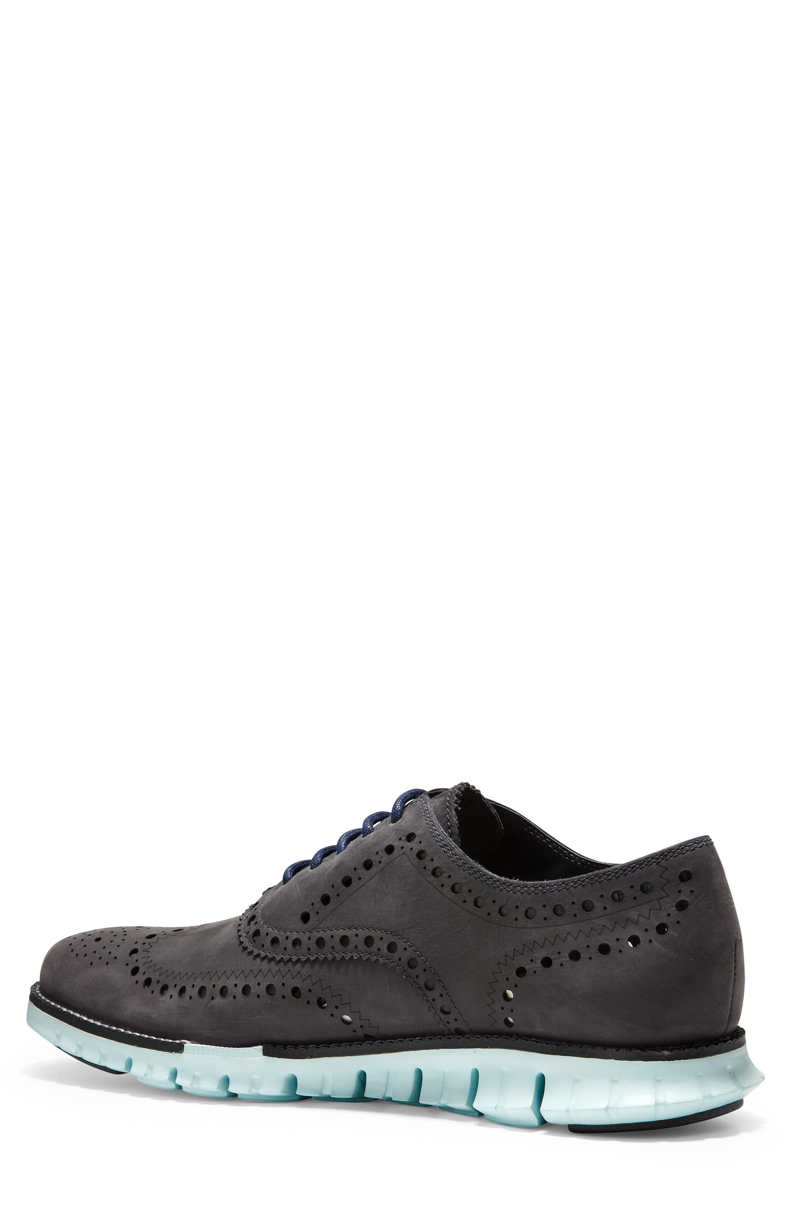 'ZeroGrand' Wingtip Oxford,                             Alternate thumbnail 2, color,                             PEACOAT/ MIST