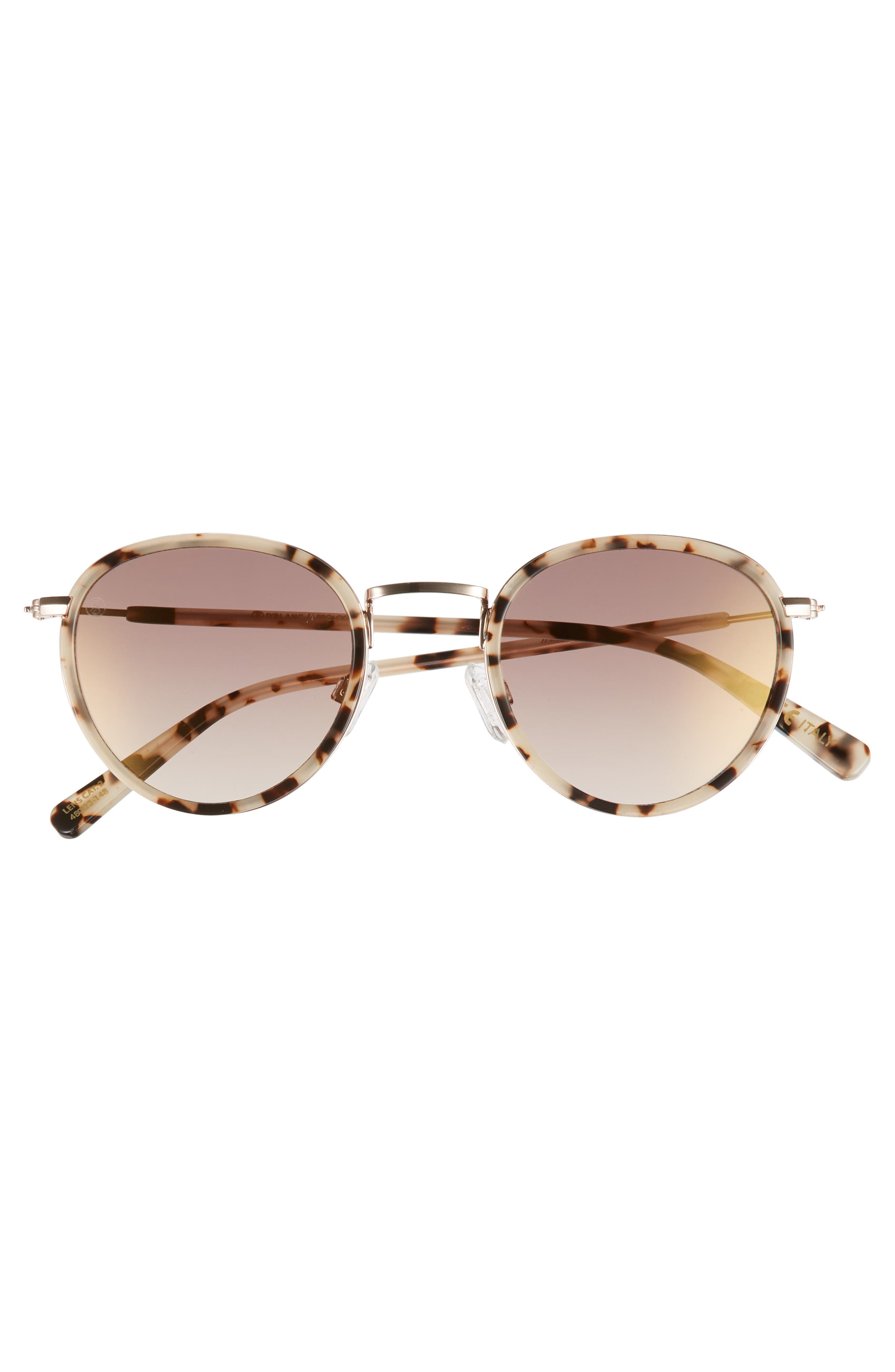 D'BLANC Prologue 48mm Round Sunglasses,                             Alternate thumbnail 3, color,                             200