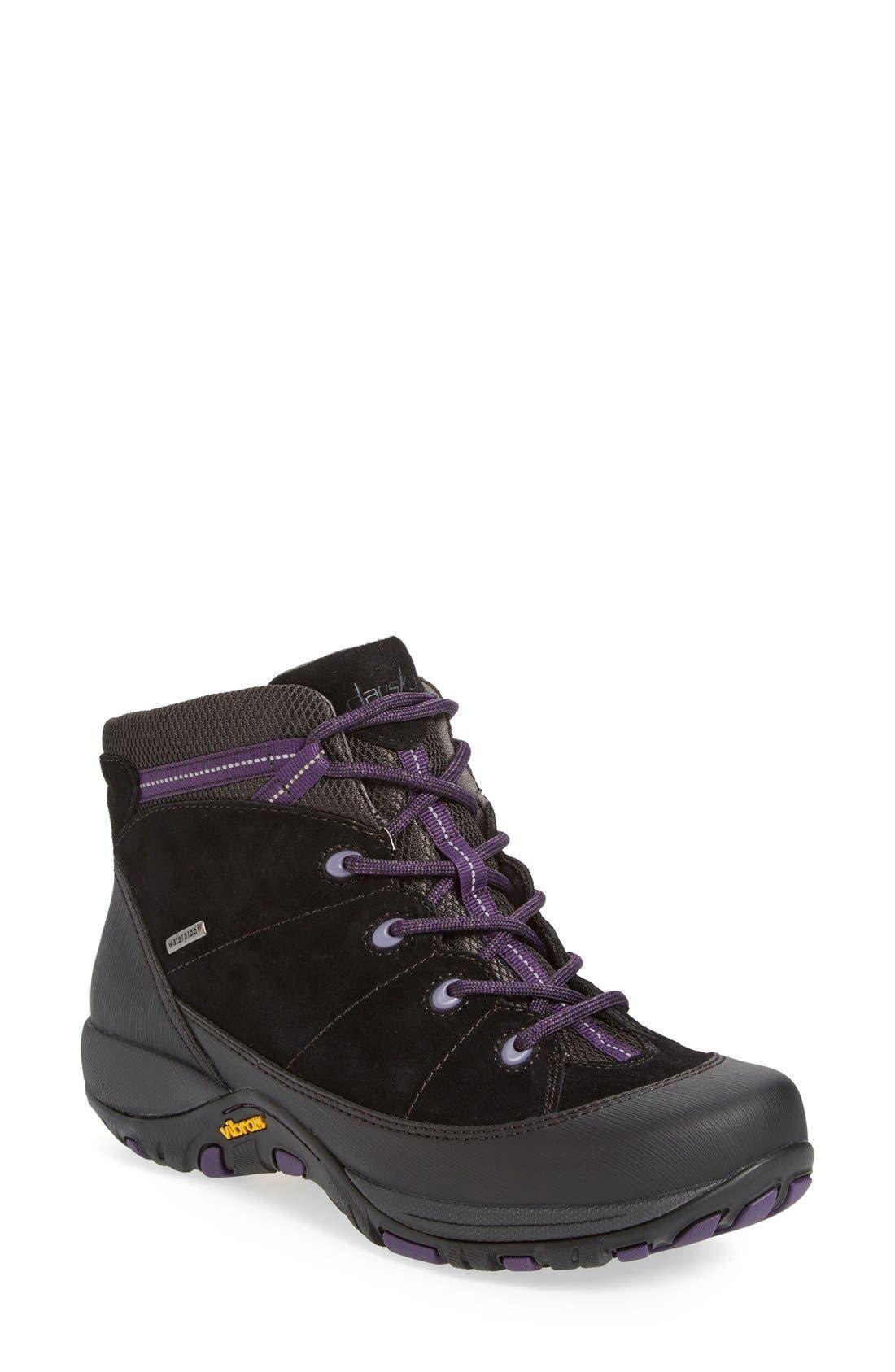 'Paulette' Waterproof Hiking Boot,                             Main thumbnail 1, color,                             001