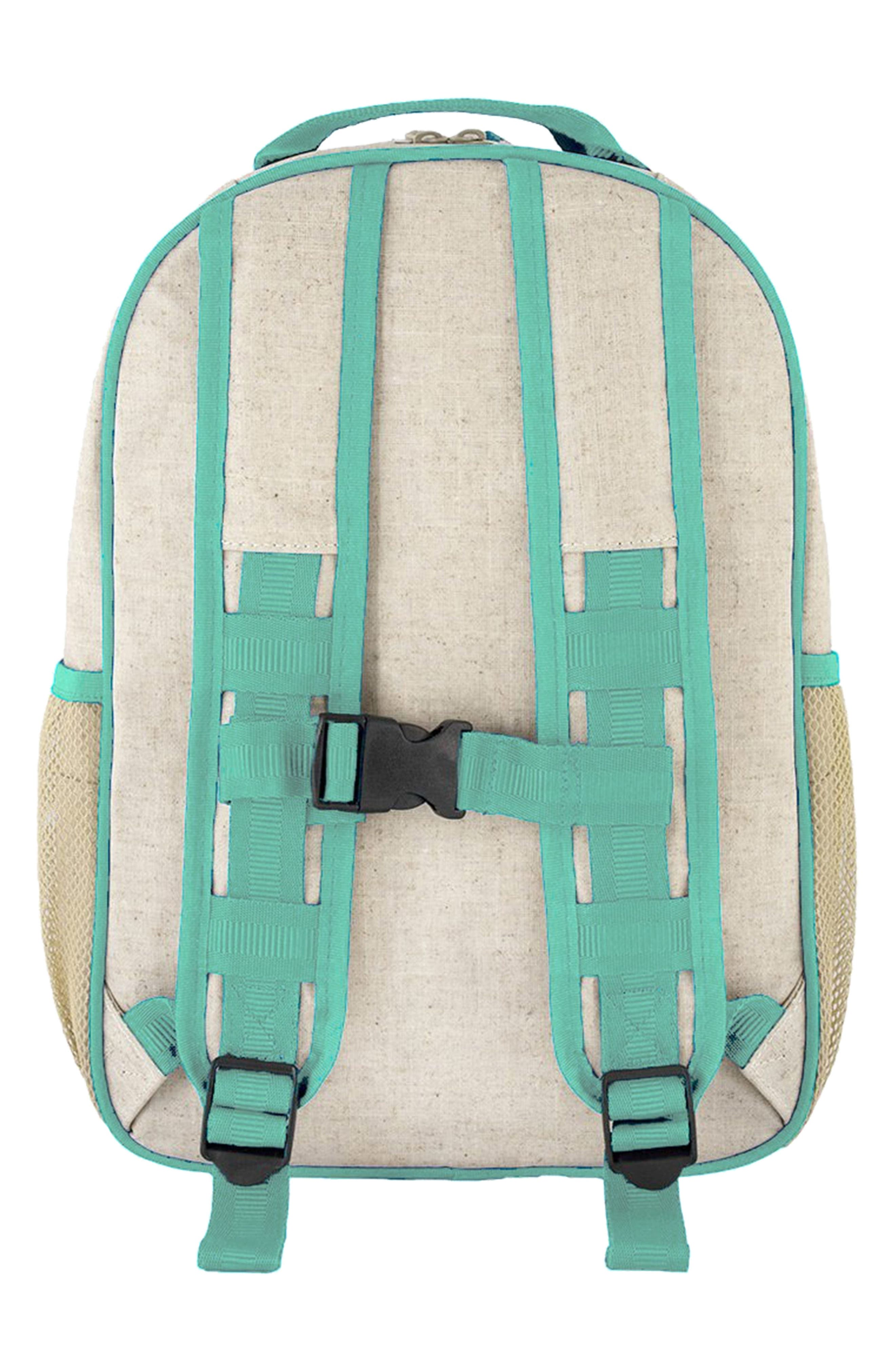 Raw Linen Toddler Backpack,                             Alternate thumbnail 4, color,