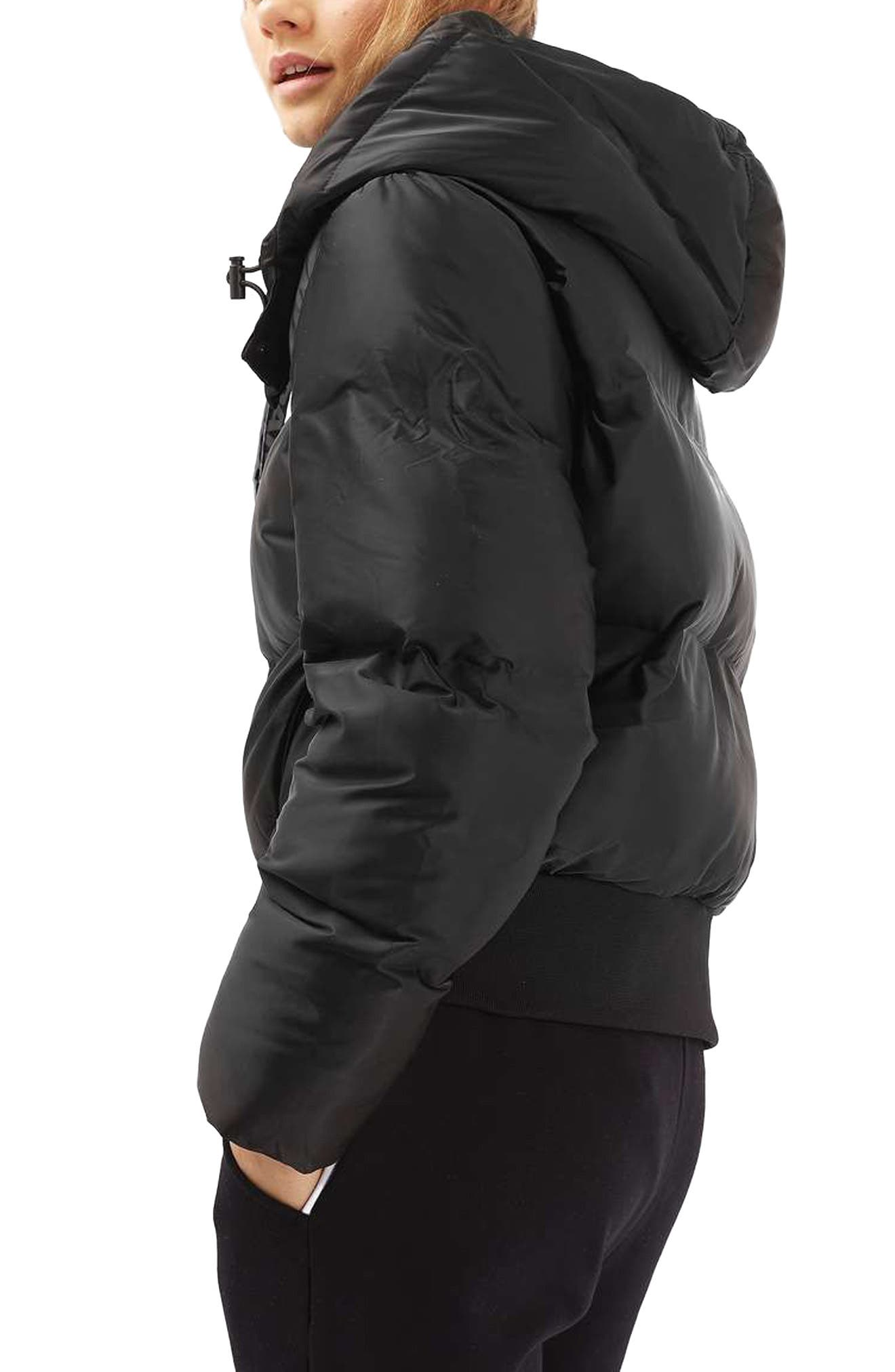 Crop Hooded Puffer Jacket,                             Alternate thumbnail 7, color,