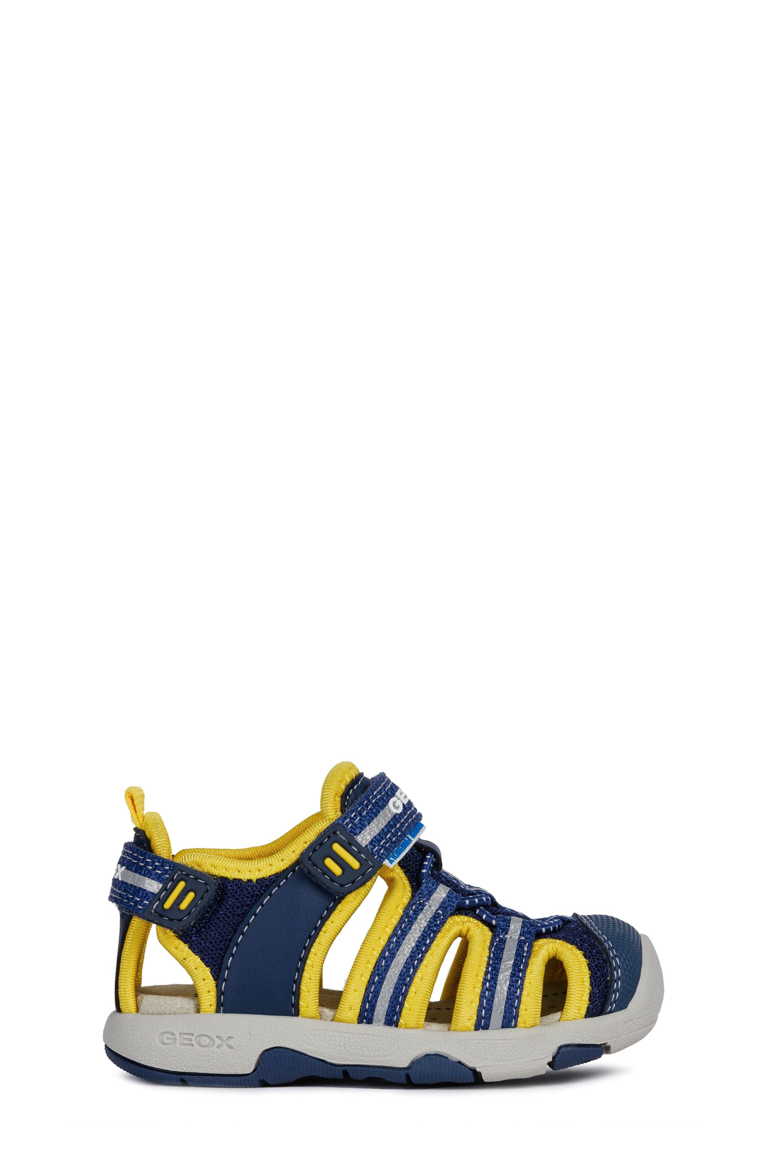 Multy Water Friendly Sandal,                             Alternate thumbnail 3, color,                             NAVY/ YELLOW
