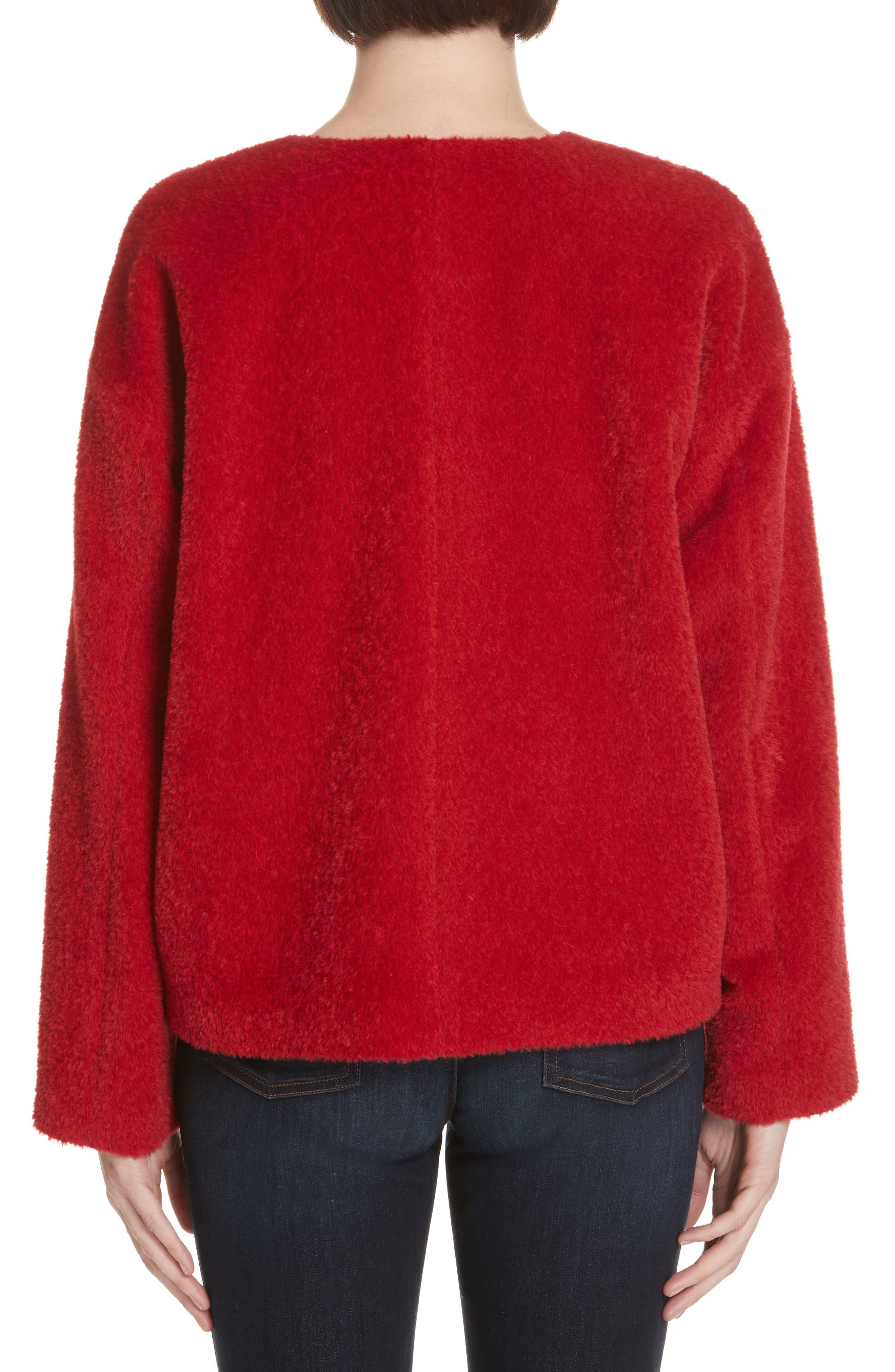 Wool & Alpaca Blend Jacket,                             Alternate thumbnail 2, color,                             LACQUER