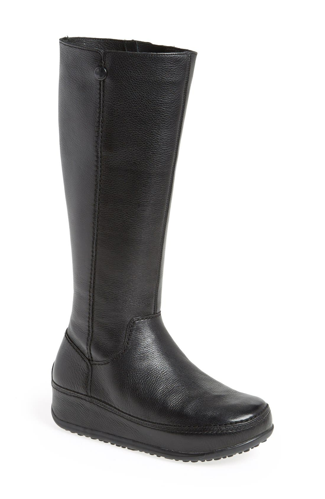 FITFLOP,                              'Superboot' Leather Boot,                             Main thumbnail 1, color,                             018