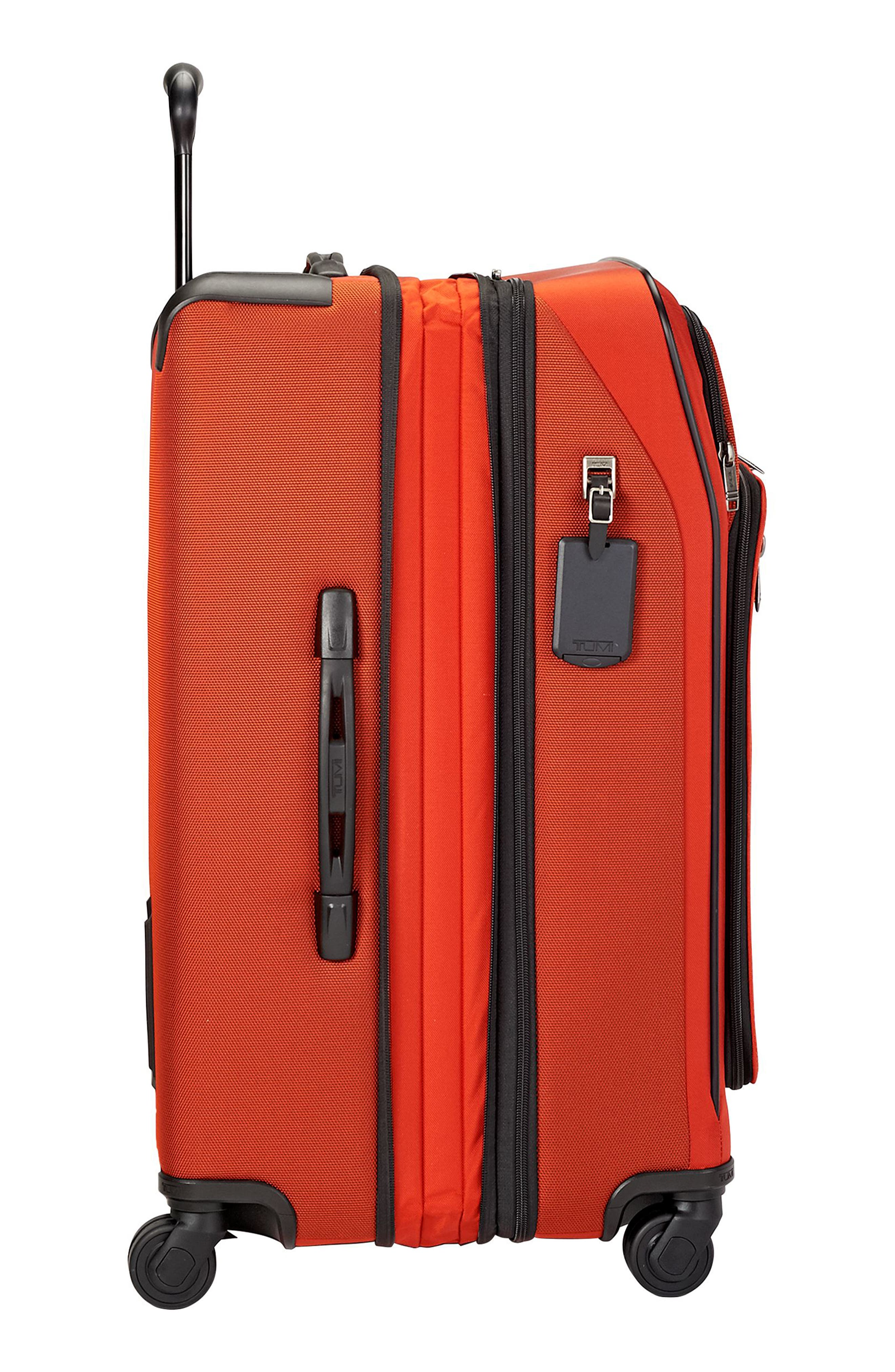 Merge - Short Trip Expandable Rolling Suitcase,                             Alternate thumbnail 3, color,                             SUNSET RED