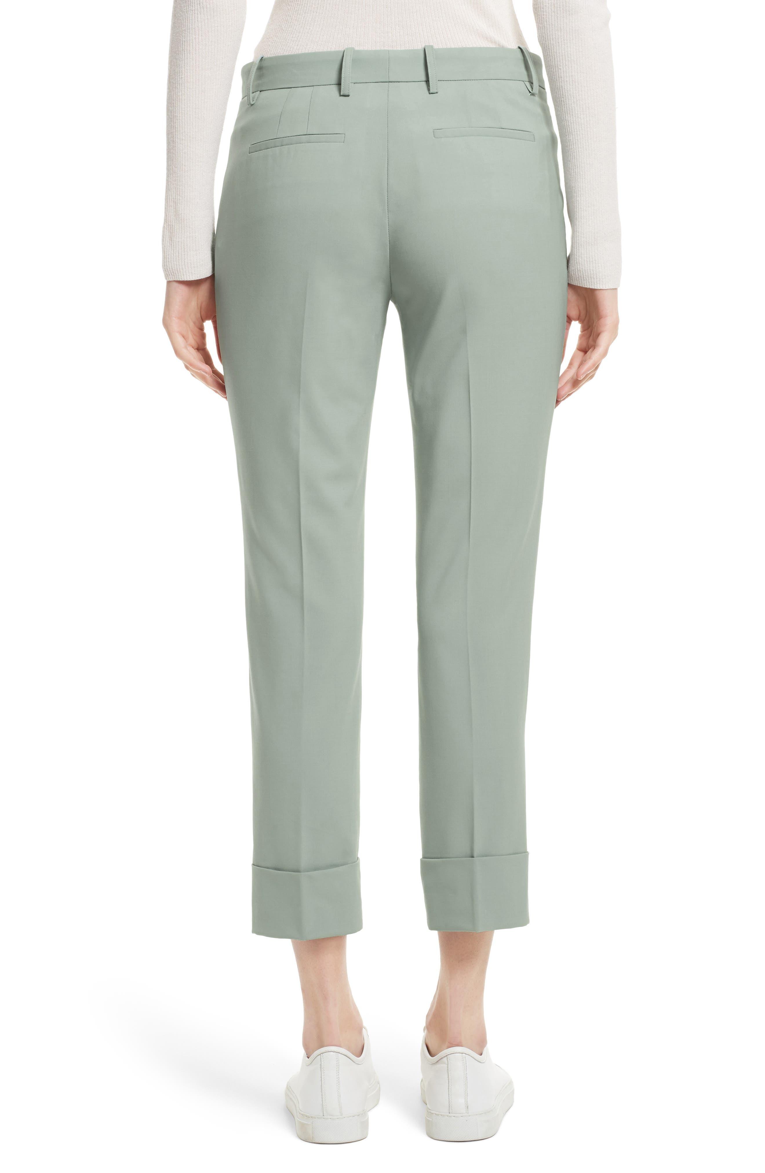 Stretch Wool Crop Pants,                             Alternate thumbnail 2, color,                             392