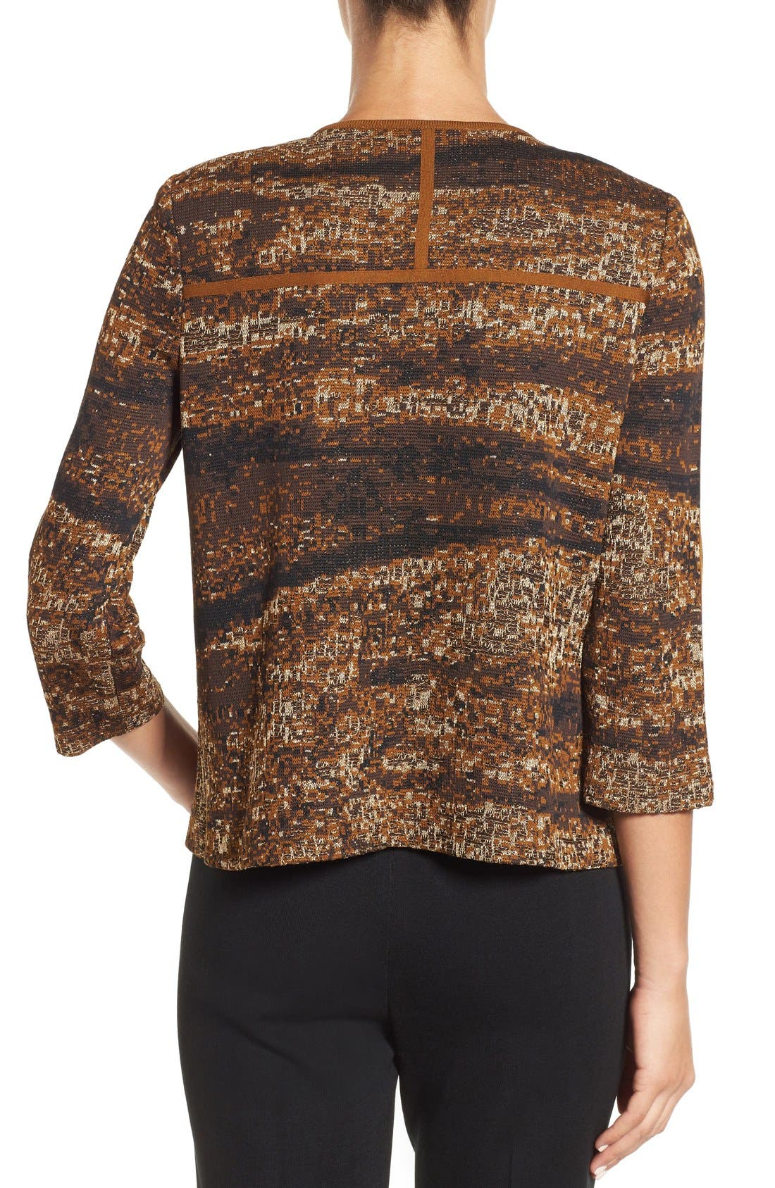 Asymmetrical Jacquard Knit Jacket,                             Alternate thumbnail 2, color,                             241