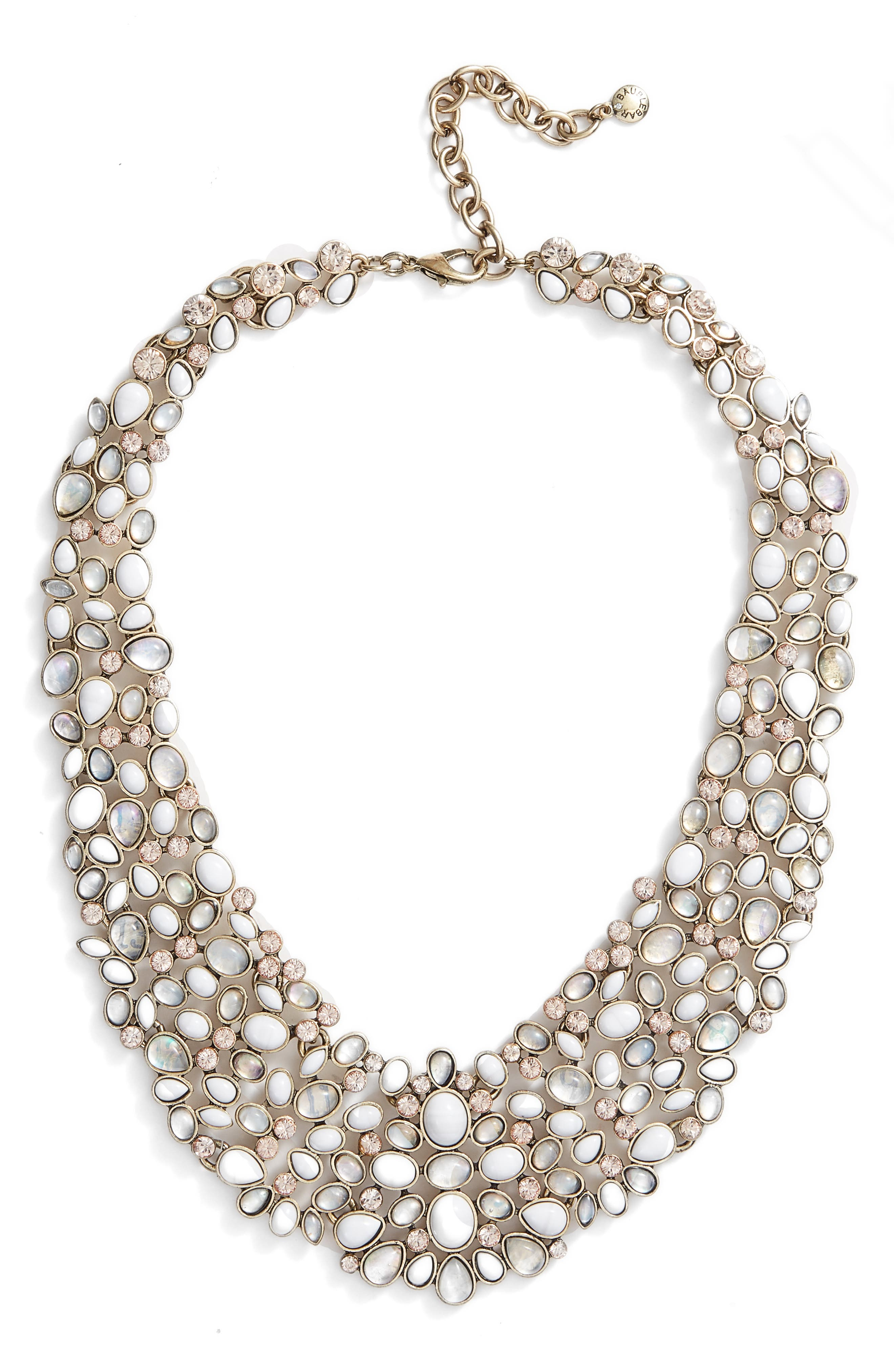 'Kew' Crystal Collar Necklace,                             Main thumbnail 1, color,                             101