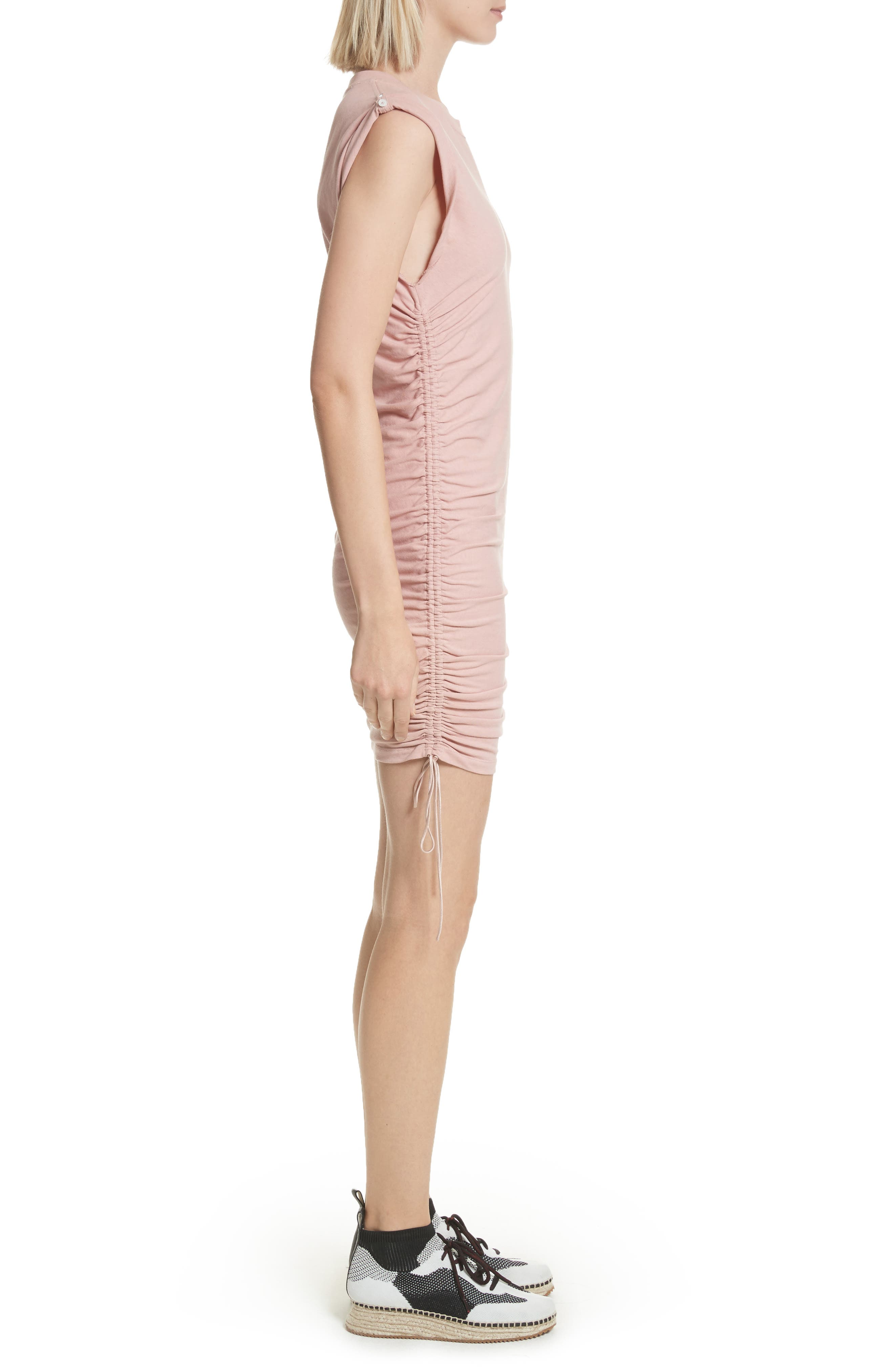 T by Alexander Wang Ruched Jersey Minidress,                             Alternate thumbnail 3, color,                             688