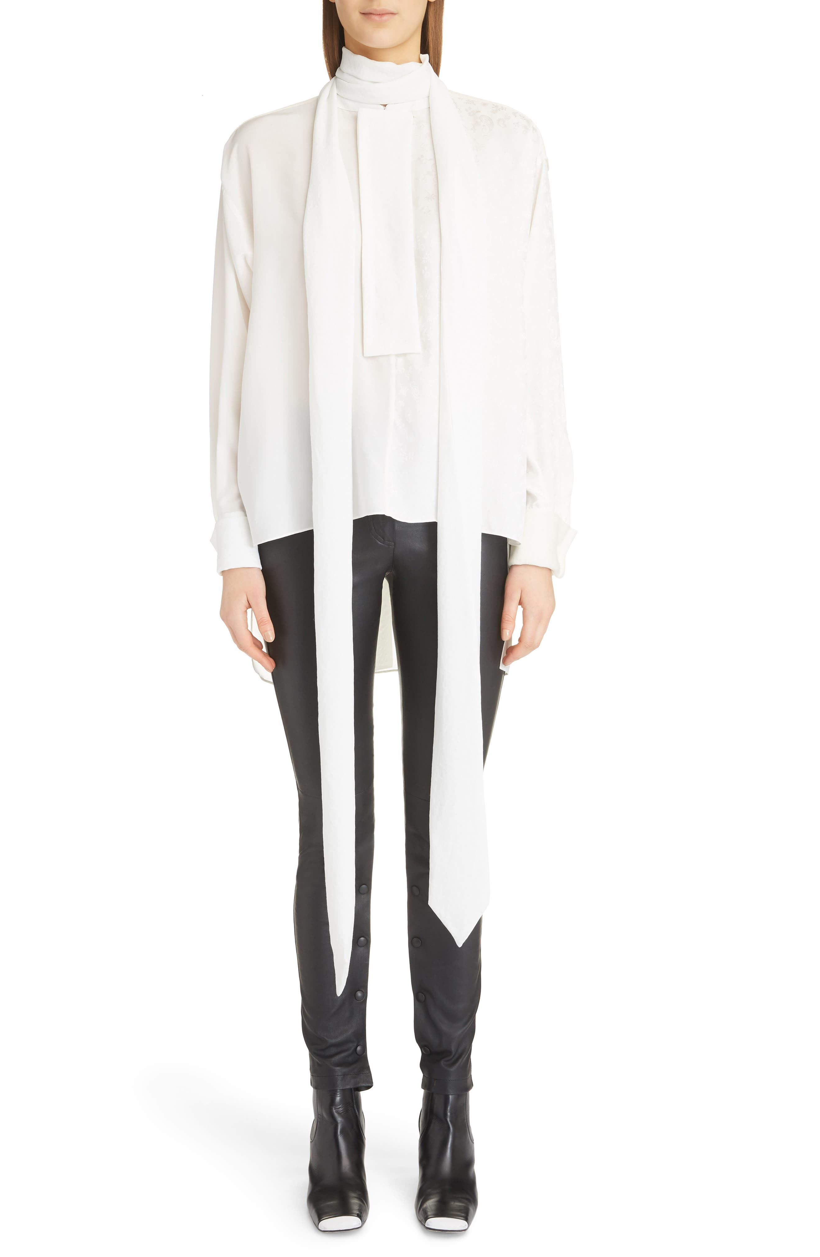Lavalliere Tunic Blouse,                         Main,                         color, WHITE/ IVORY