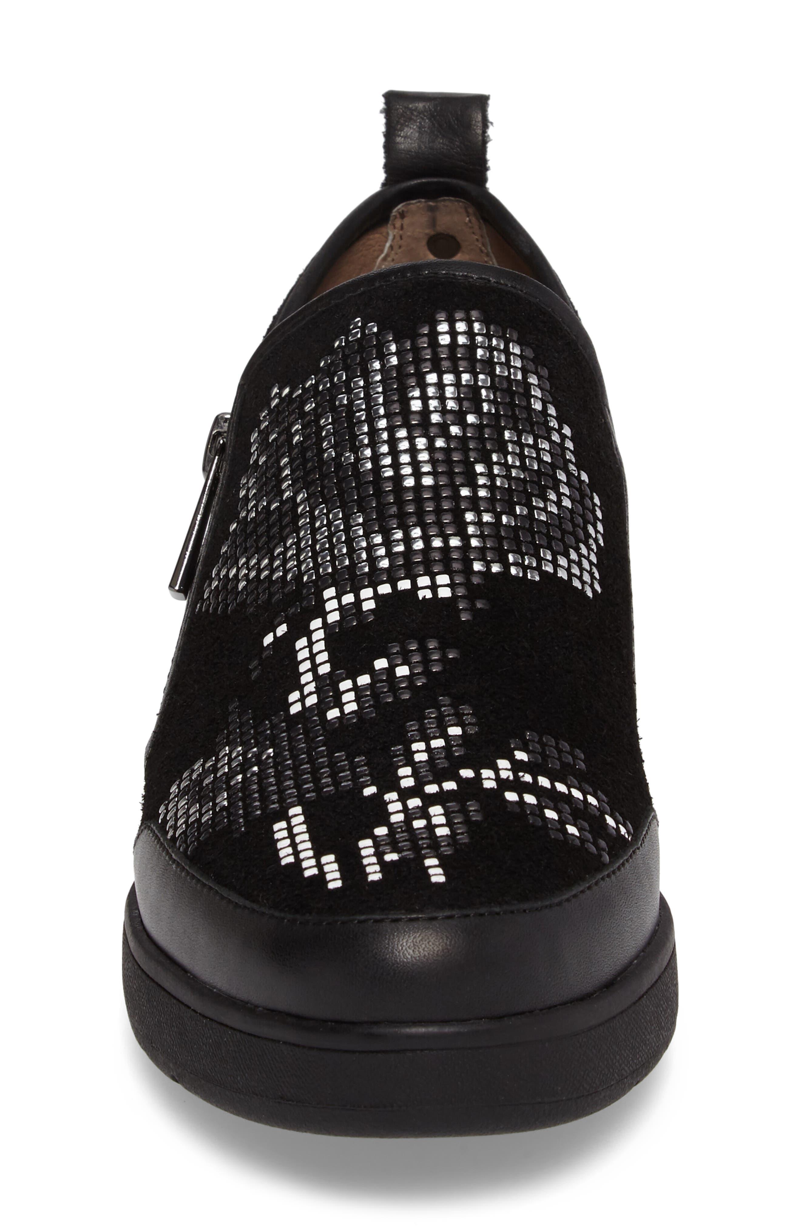 Donald J Pliner Mylasp Embellished Sneaker,                             Alternate thumbnail 4, color,                             001
