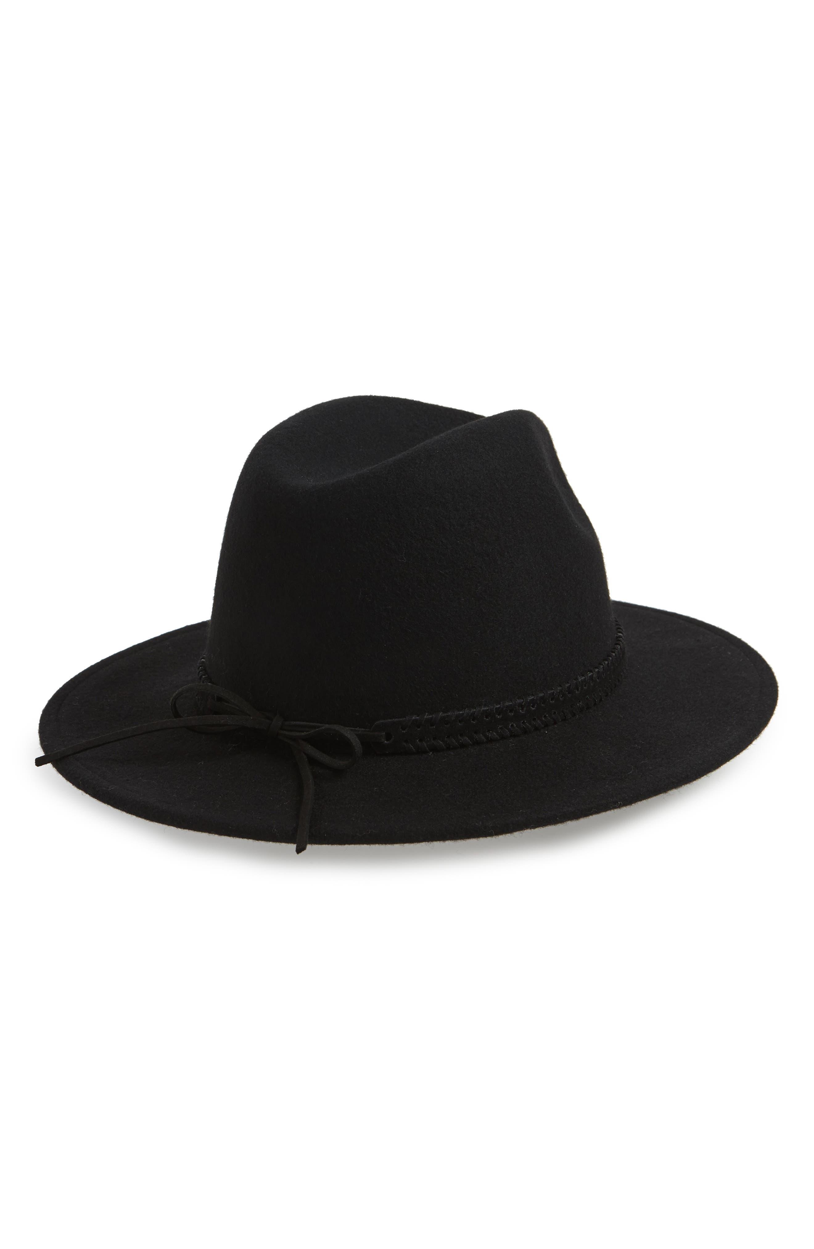 Felt Panama Hat,                             Alternate thumbnail 2, color,                             BLACK