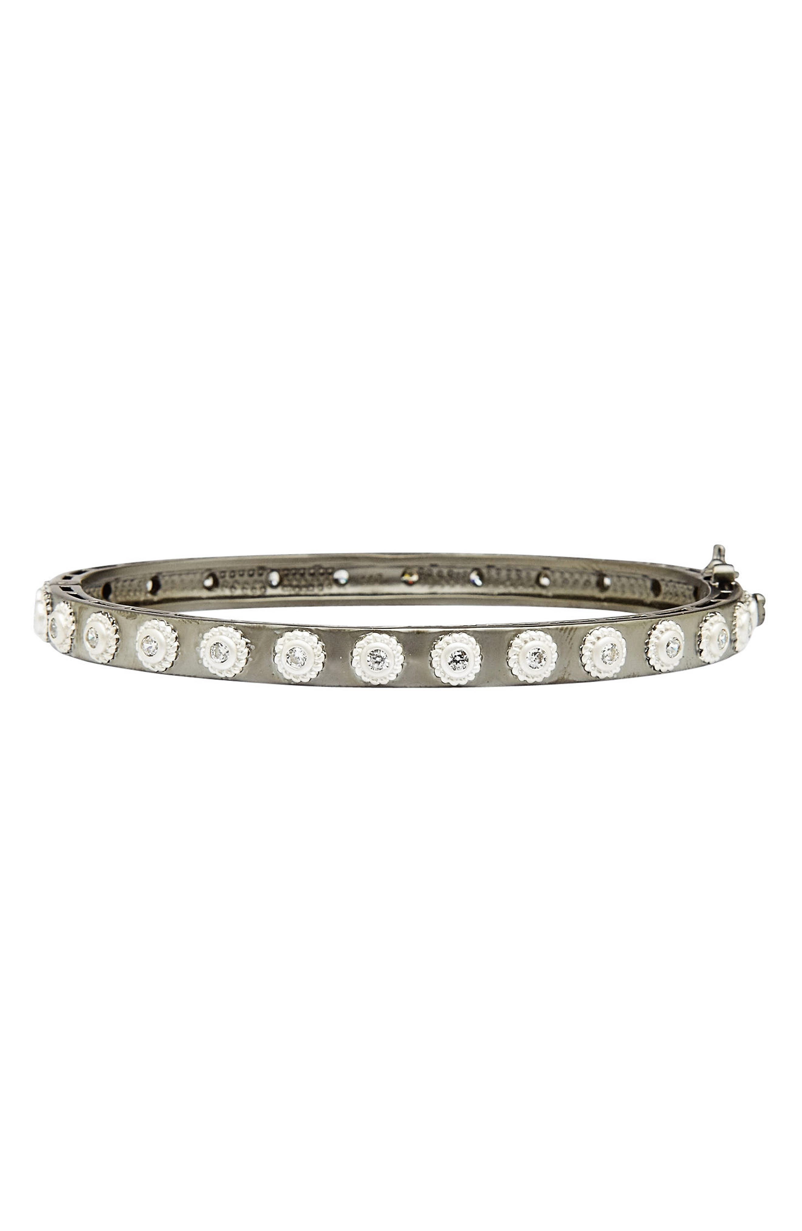 Studded Eternity Hinge Bangle,                             Main thumbnail 1, color,                             040