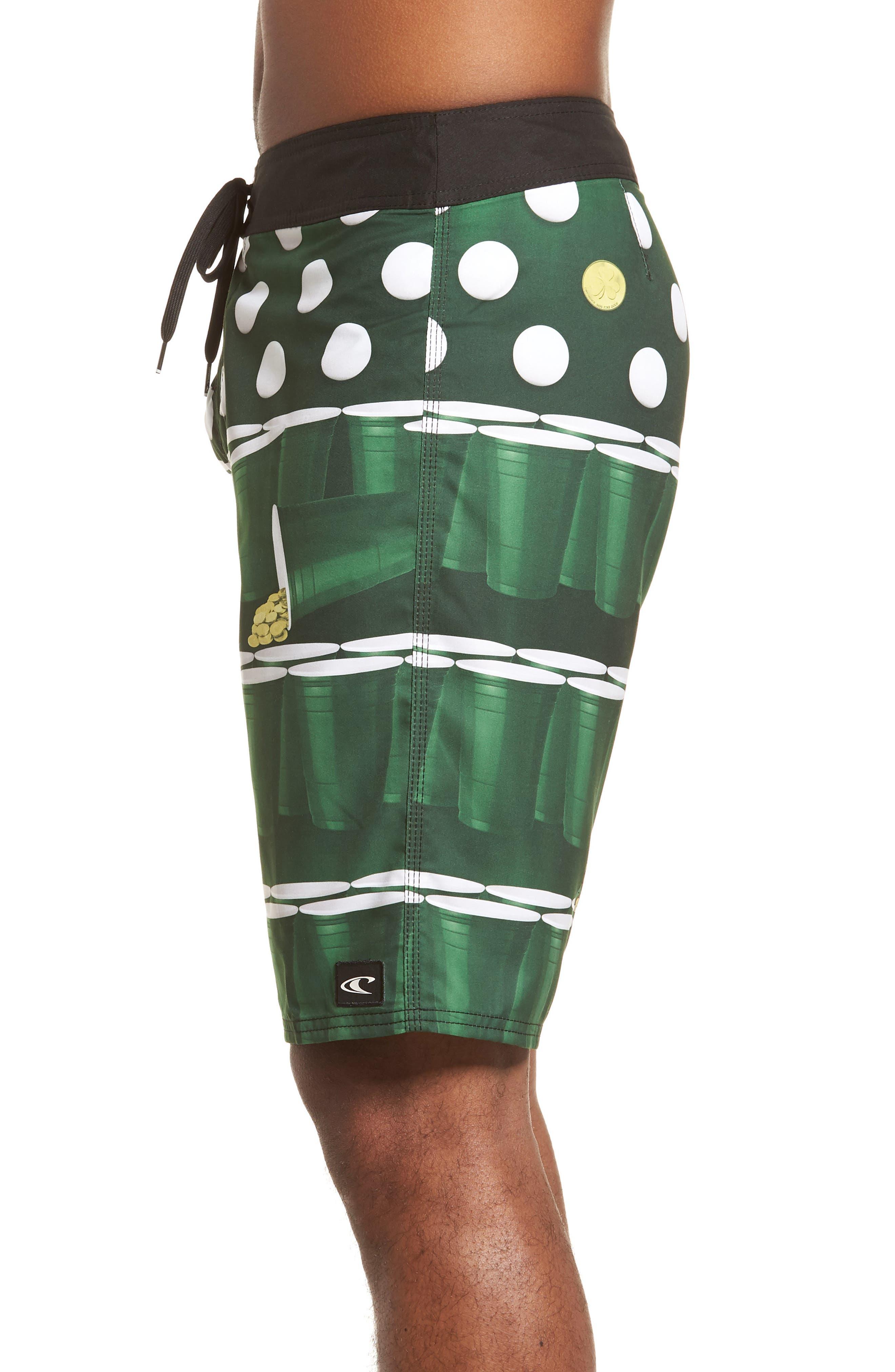 St. Paddy's Pong Board Shorts,                             Alternate thumbnail 4, color,                             300