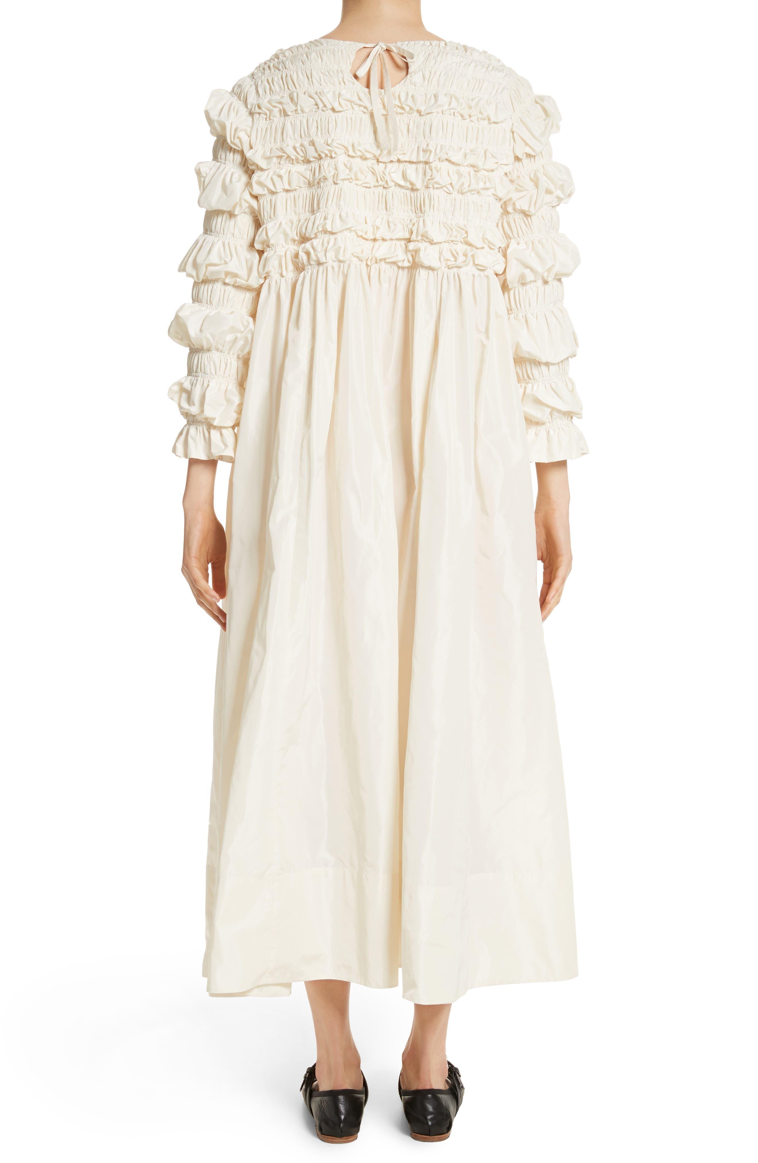 Lizzie Ruffled Taffeta Dress,                             Alternate thumbnail 2, color,                             900