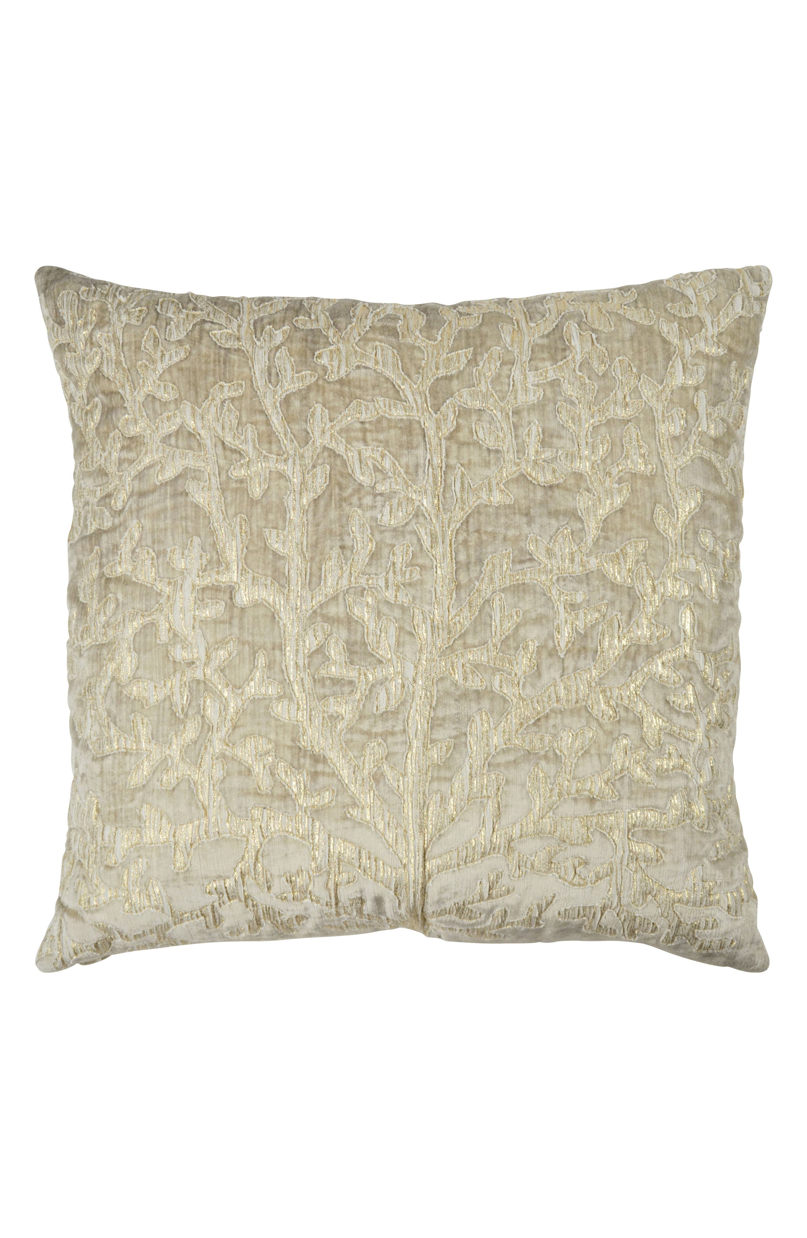 Tree of Life Appliqué Accent Pillow,                         Main,                         color, LINEN