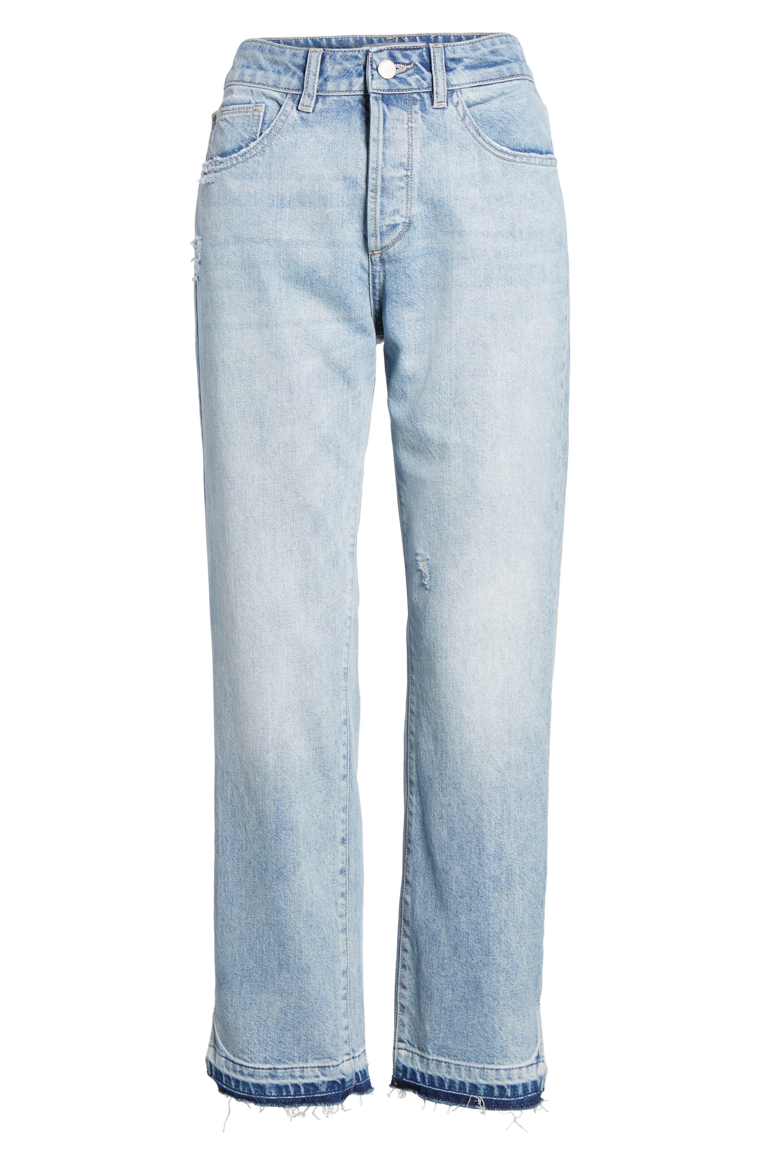 Patti Crop Straight Leg Jeans,                             Alternate thumbnail 7, color,                             430