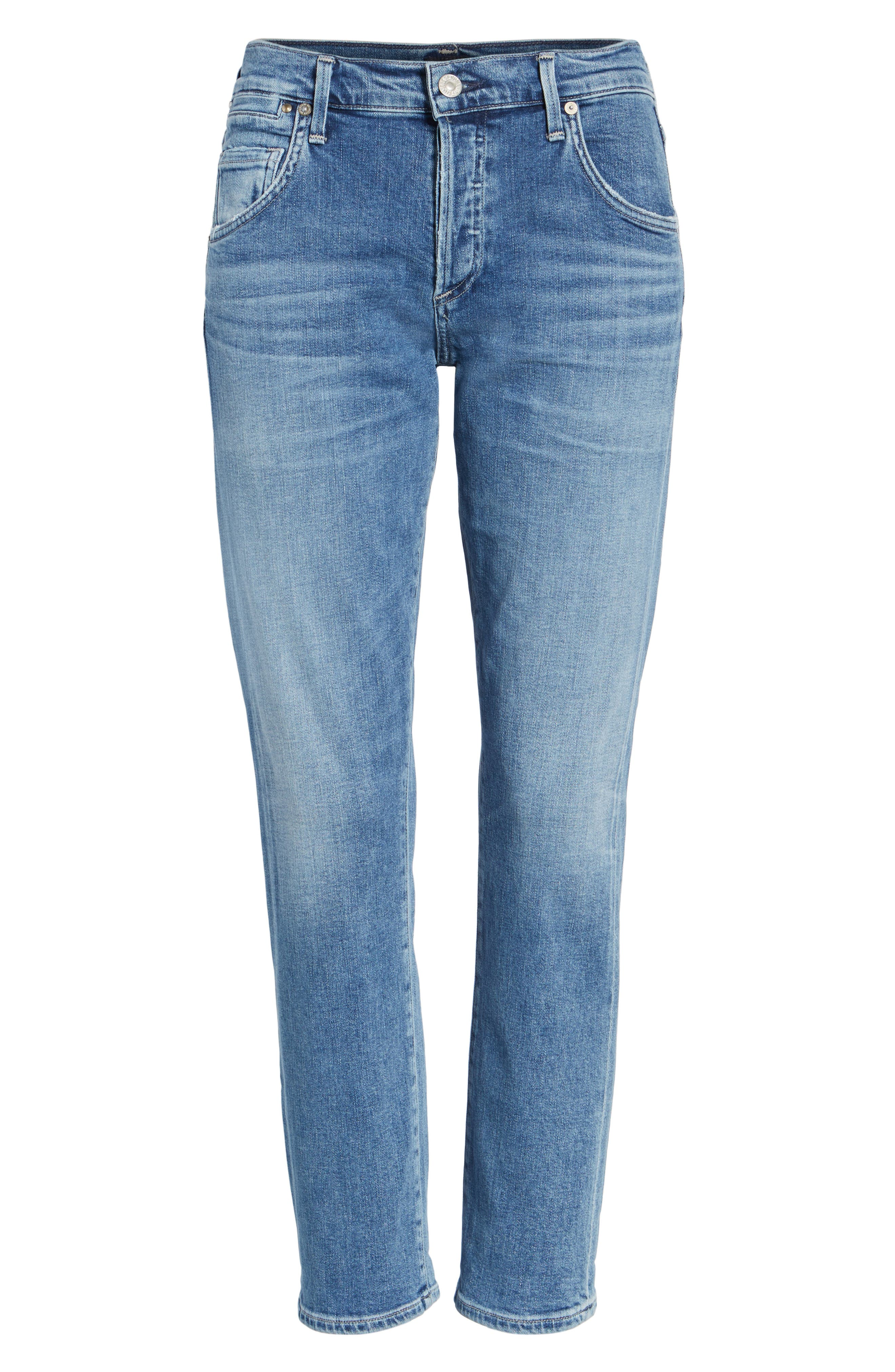 Emerson Slim Boyfriend Jeans,                             Alternate thumbnail 6, color,                             424