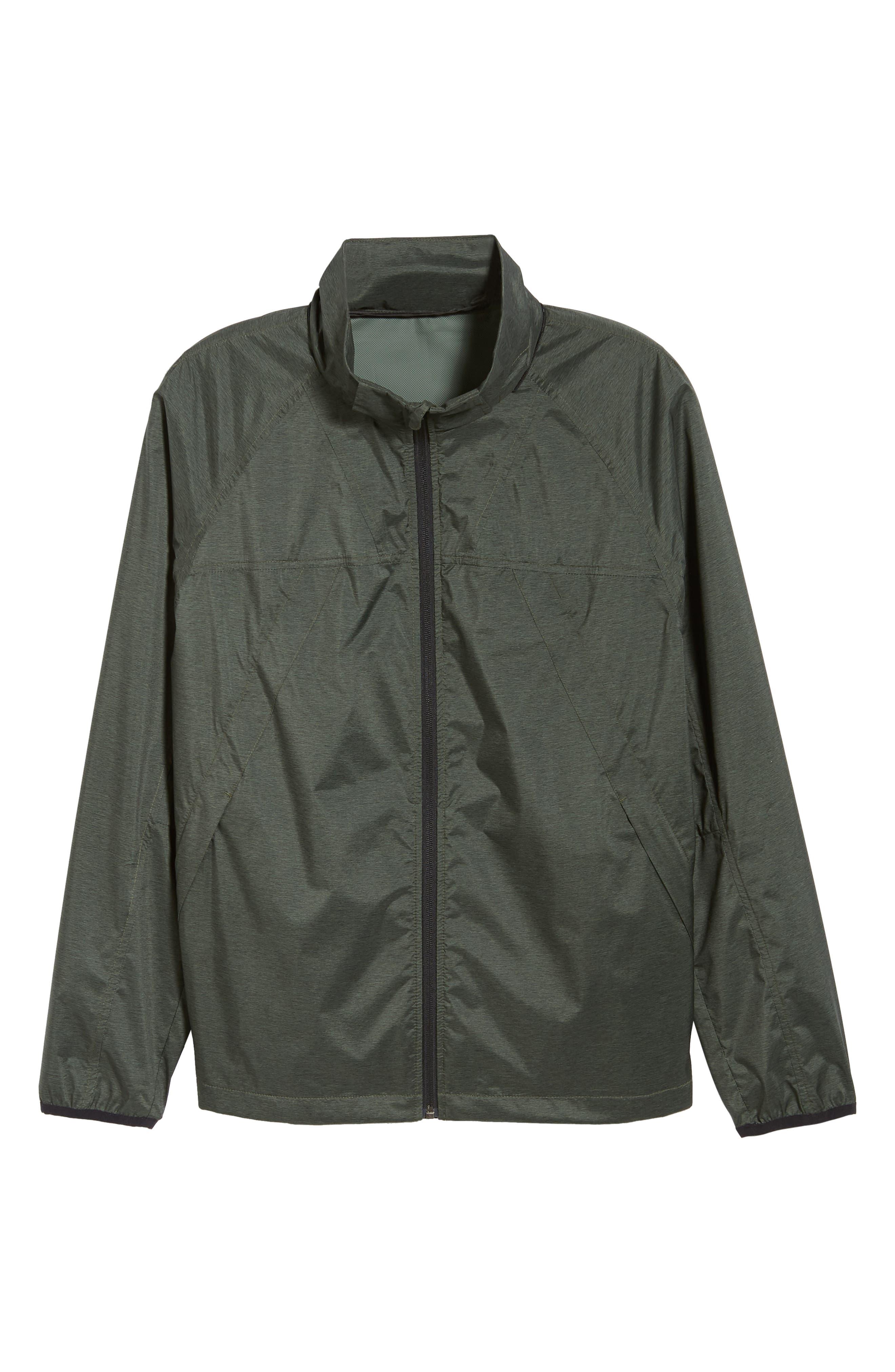 Xieite Hooded Jacket,                             Alternate thumbnail 6, color,                             GREEN TACTICAL MELANGE