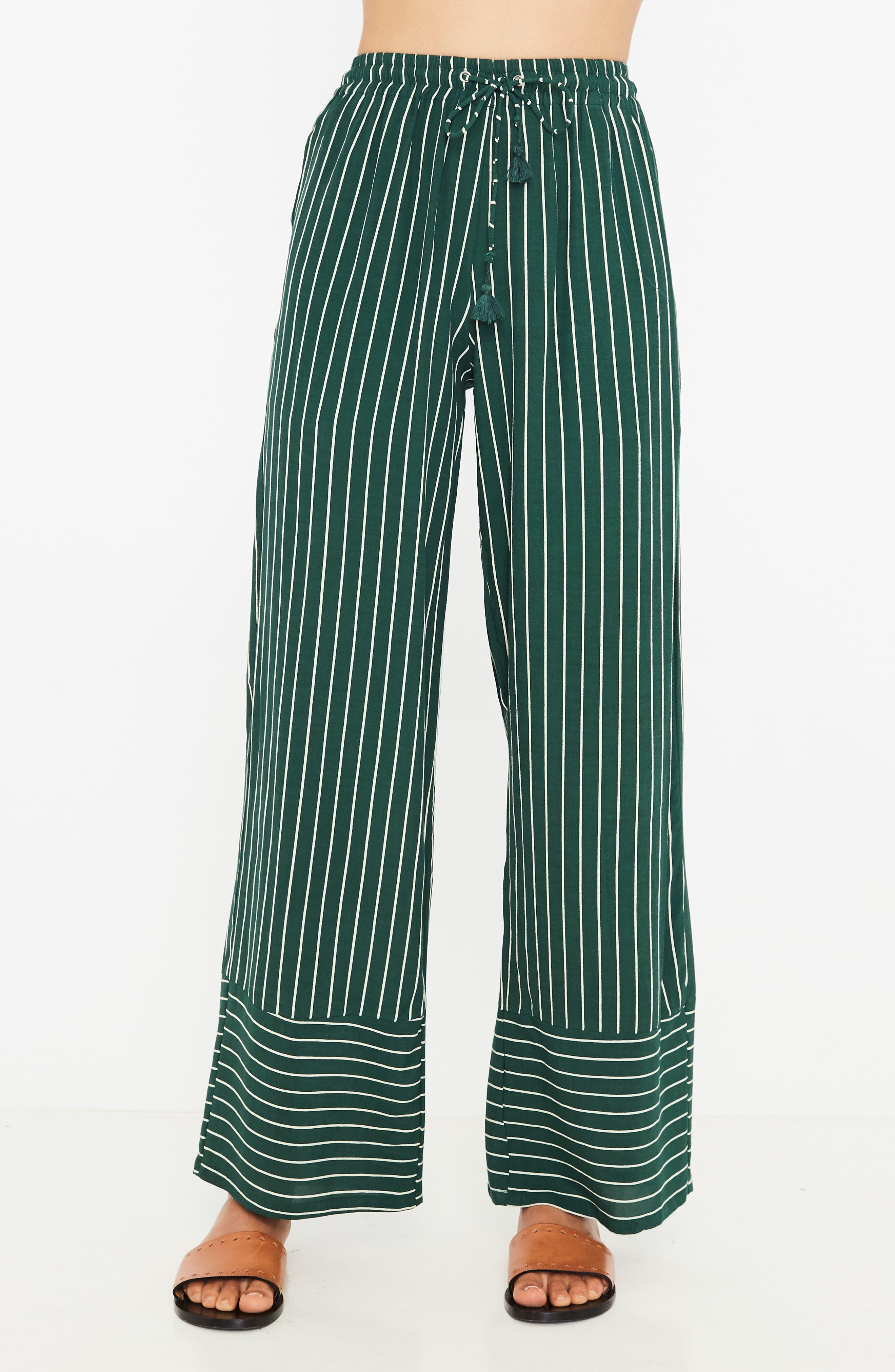 Havana High Waist Stripe Pants,                             Alternate thumbnail 4, color,                             PASEO STRIPE