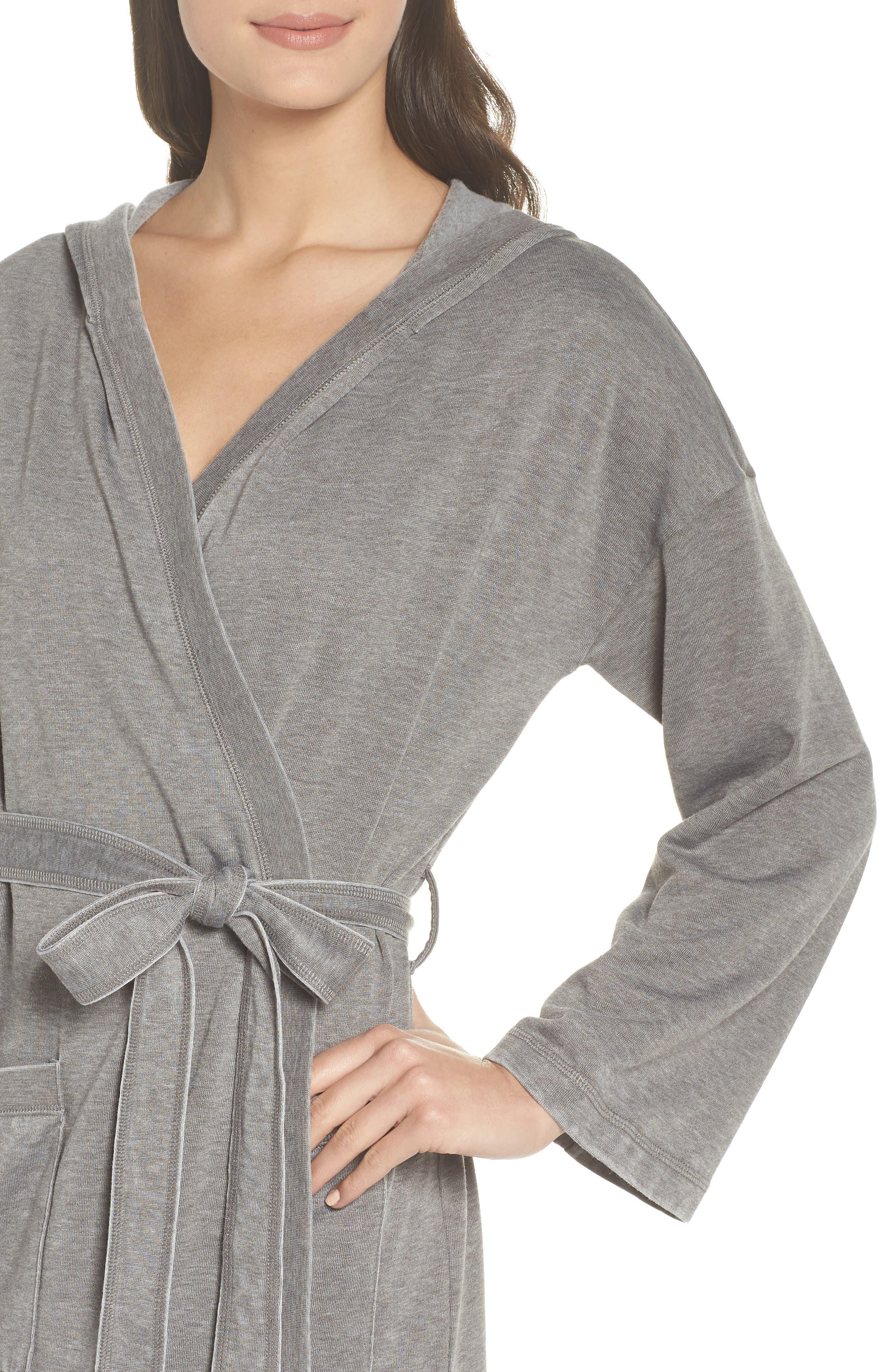 Sweatshirt Robe,                             Alternate thumbnail 4, color,                             GREY CASTLEROCK