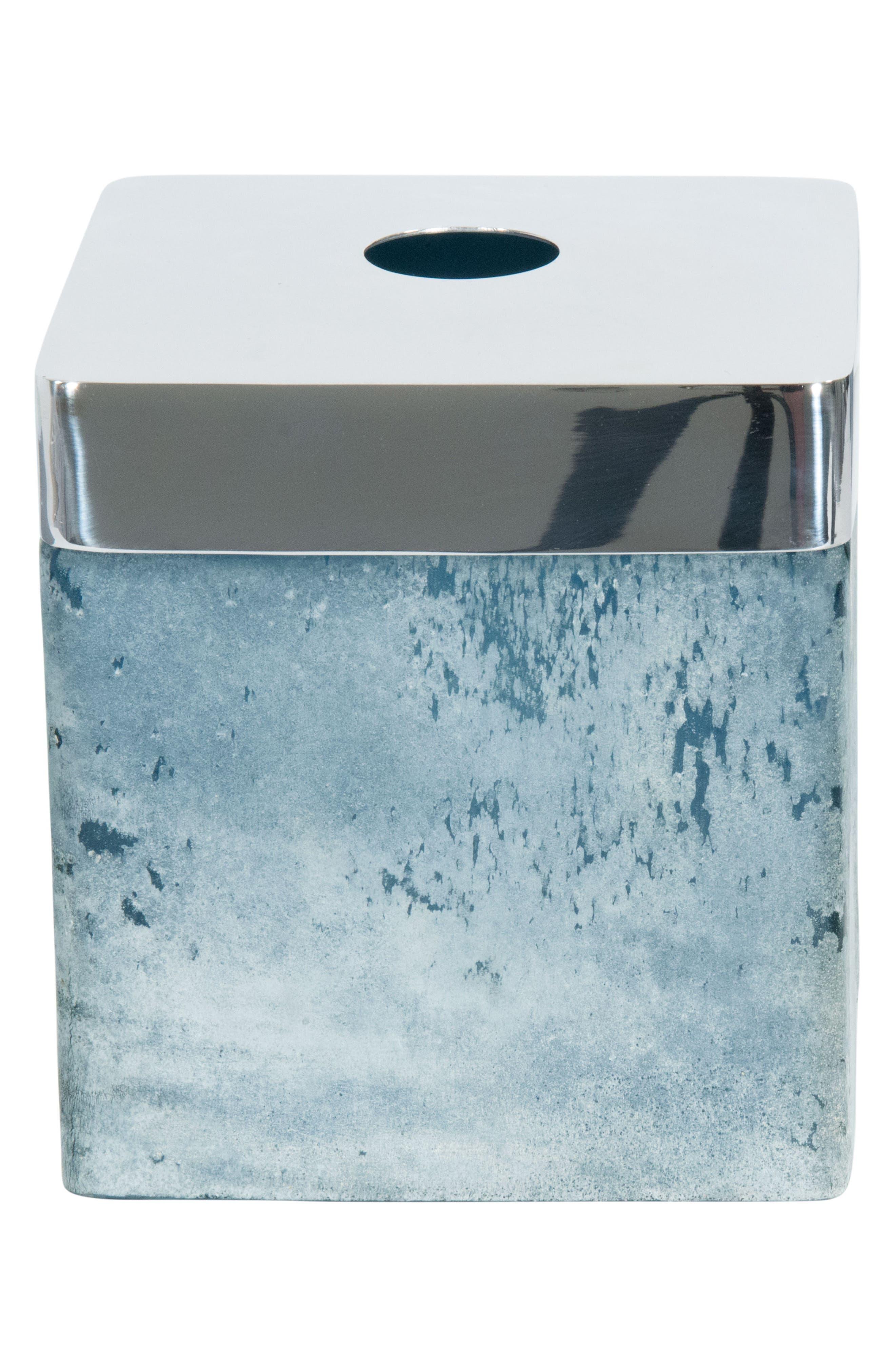 Ocean Reef Tissue Box Cover,                             Main thumbnail 1, color,                             BLUE