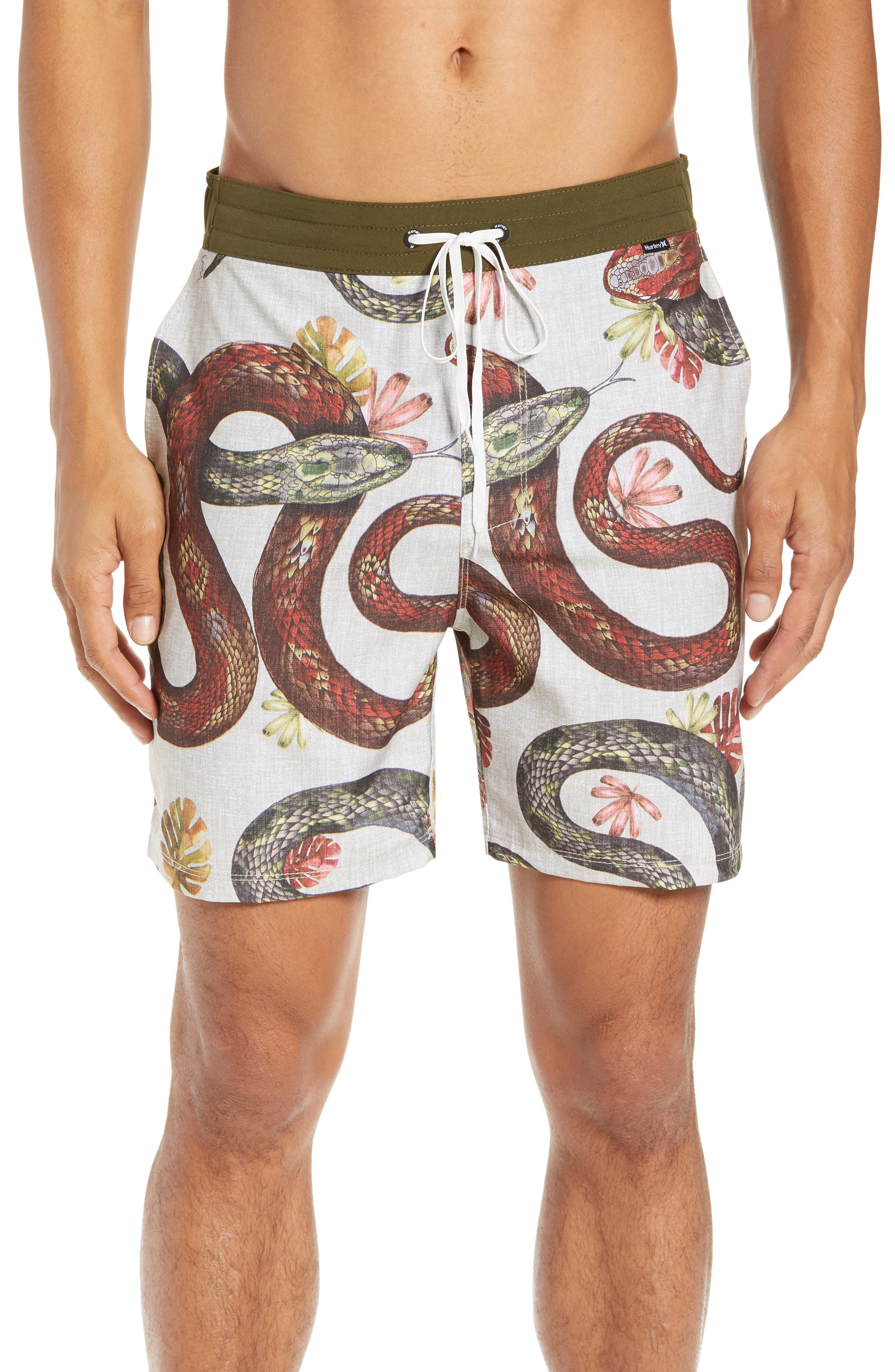 Tread Lightly Volley Swim Trunks,                             Main thumbnail 1, color,                             STRING
