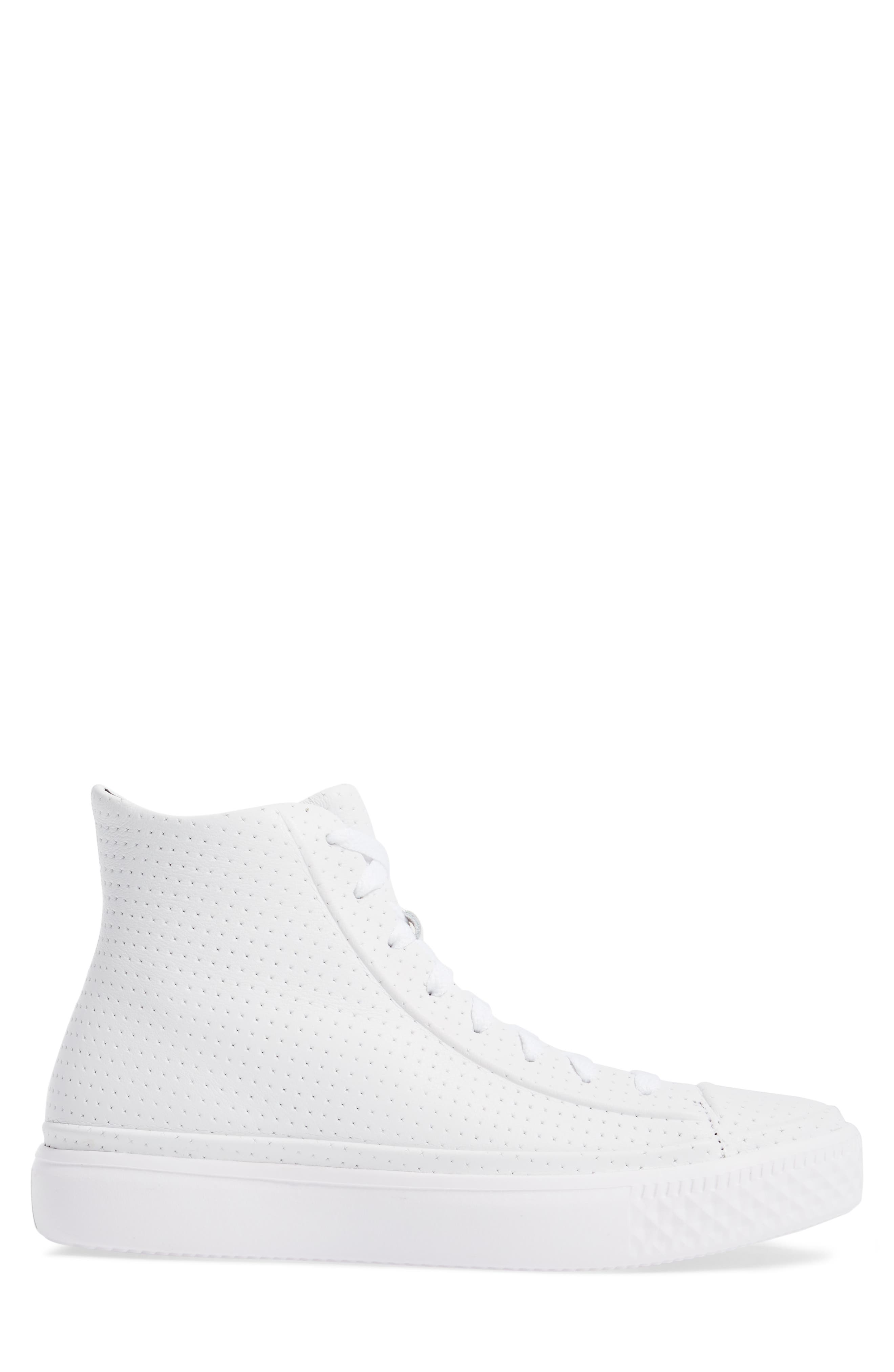 Chuck Taylor<sup>®</sup> All-Star<sup>®</sup> Leather Sneaker,                             Alternate thumbnail 3, color,                             100