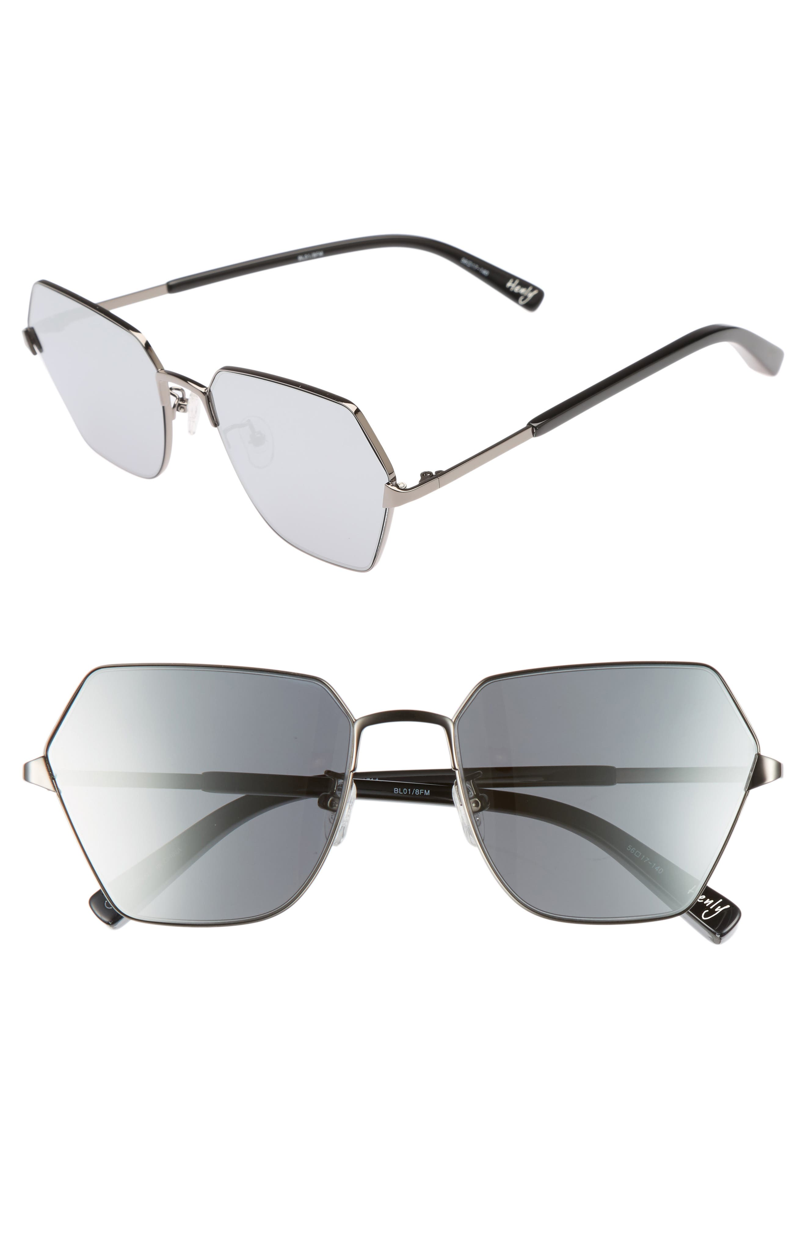 Henly 56mm Sunglasses,                             Main thumbnail 1, color,                             001