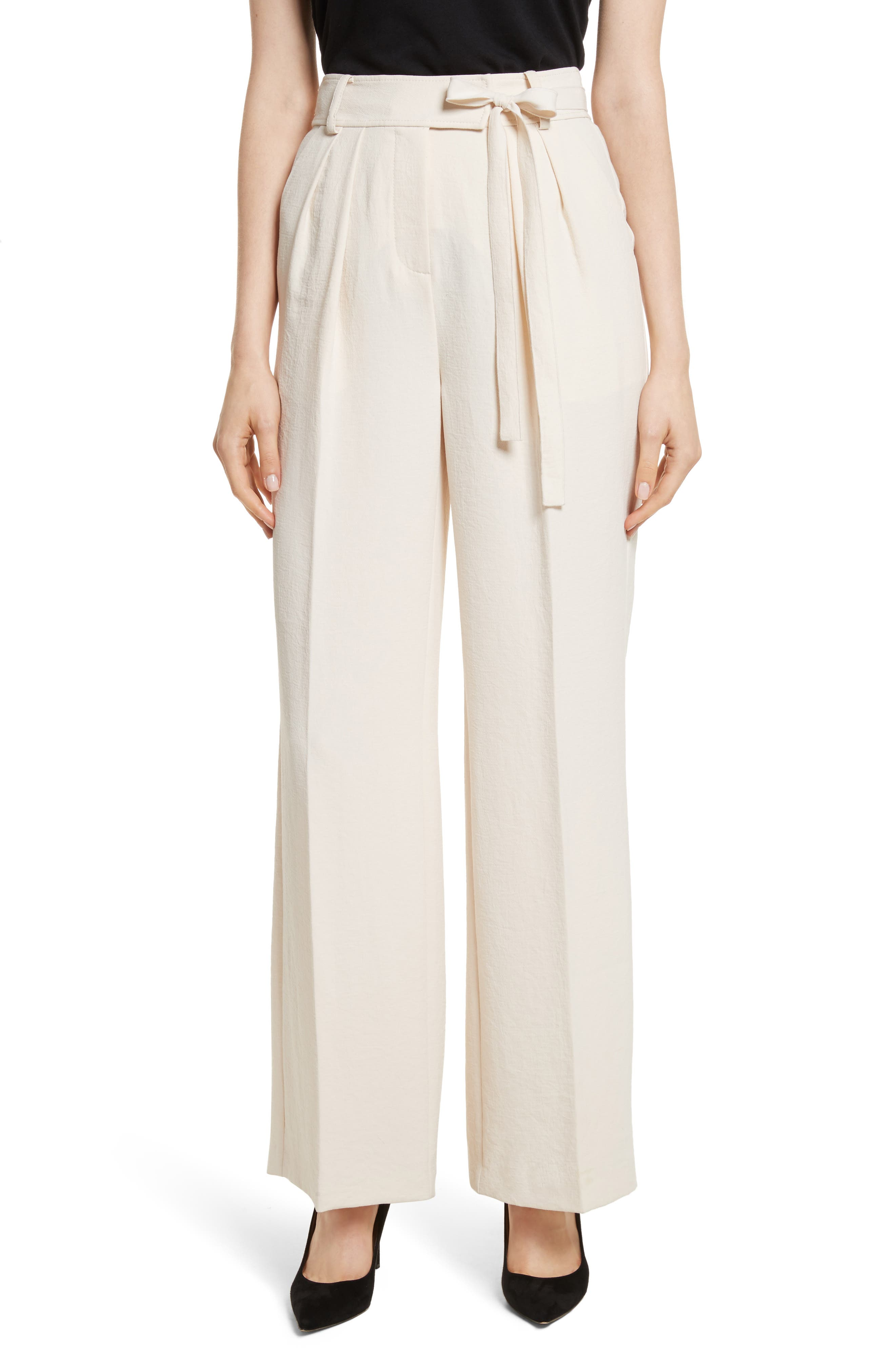 Crepe Tie Waist Pants,                         Main,                         color, 907