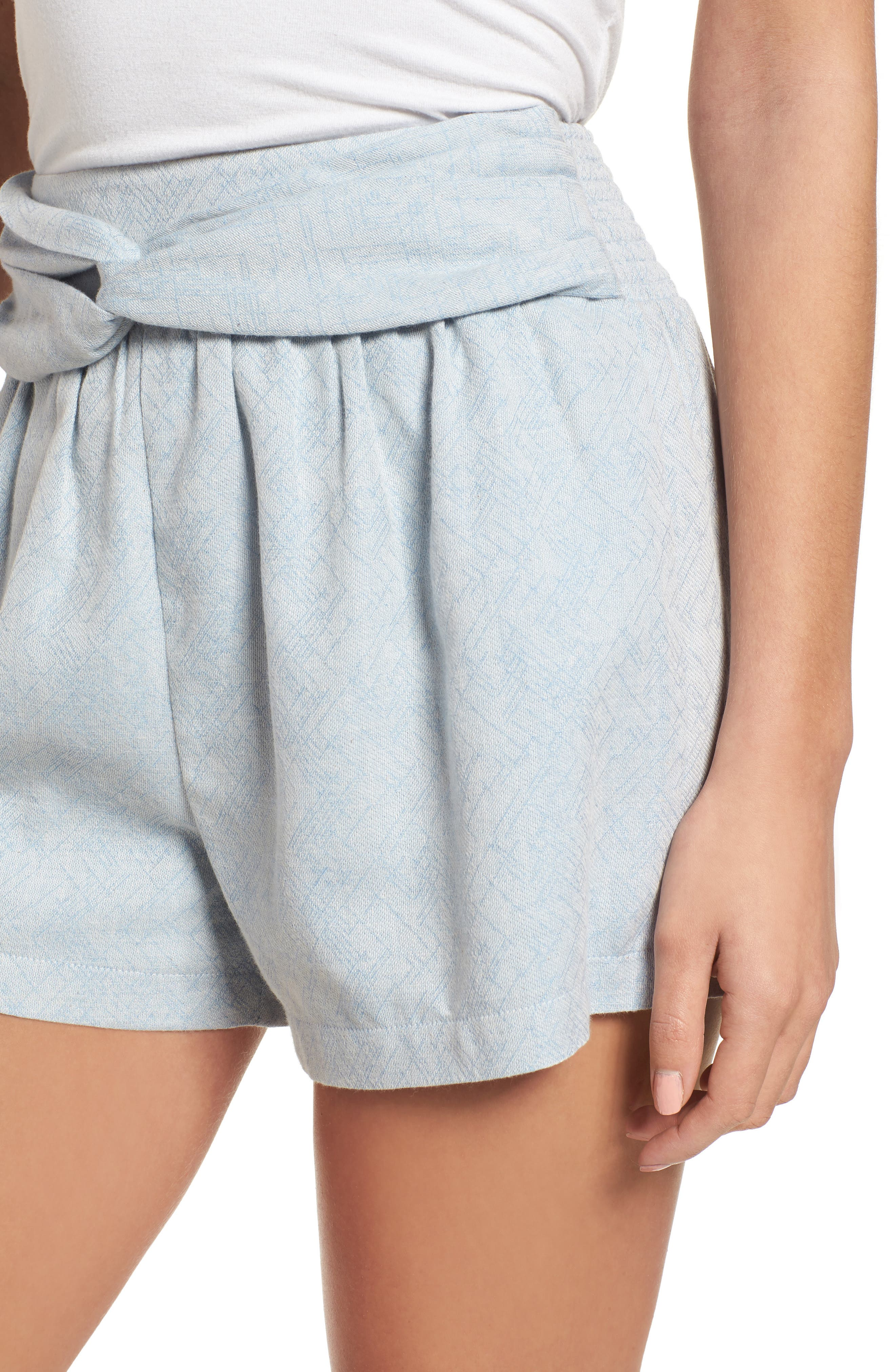 Knotted Jacquard Shorts,                             Alternate thumbnail 4, color,