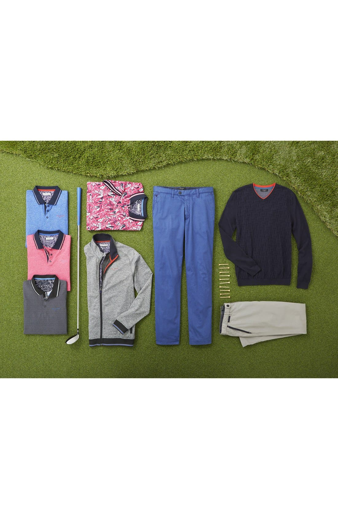 Houndstooth Print Golf Chinos,                             Alternate thumbnail 7, color,                             030