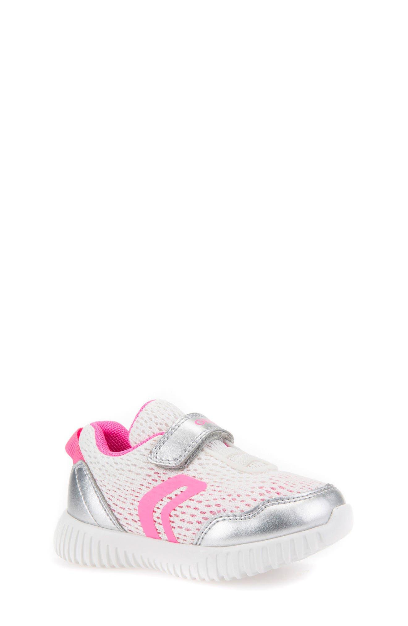Waviness Sneaker,                             Main thumbnail 1, color,                             WHITE/ SILVER