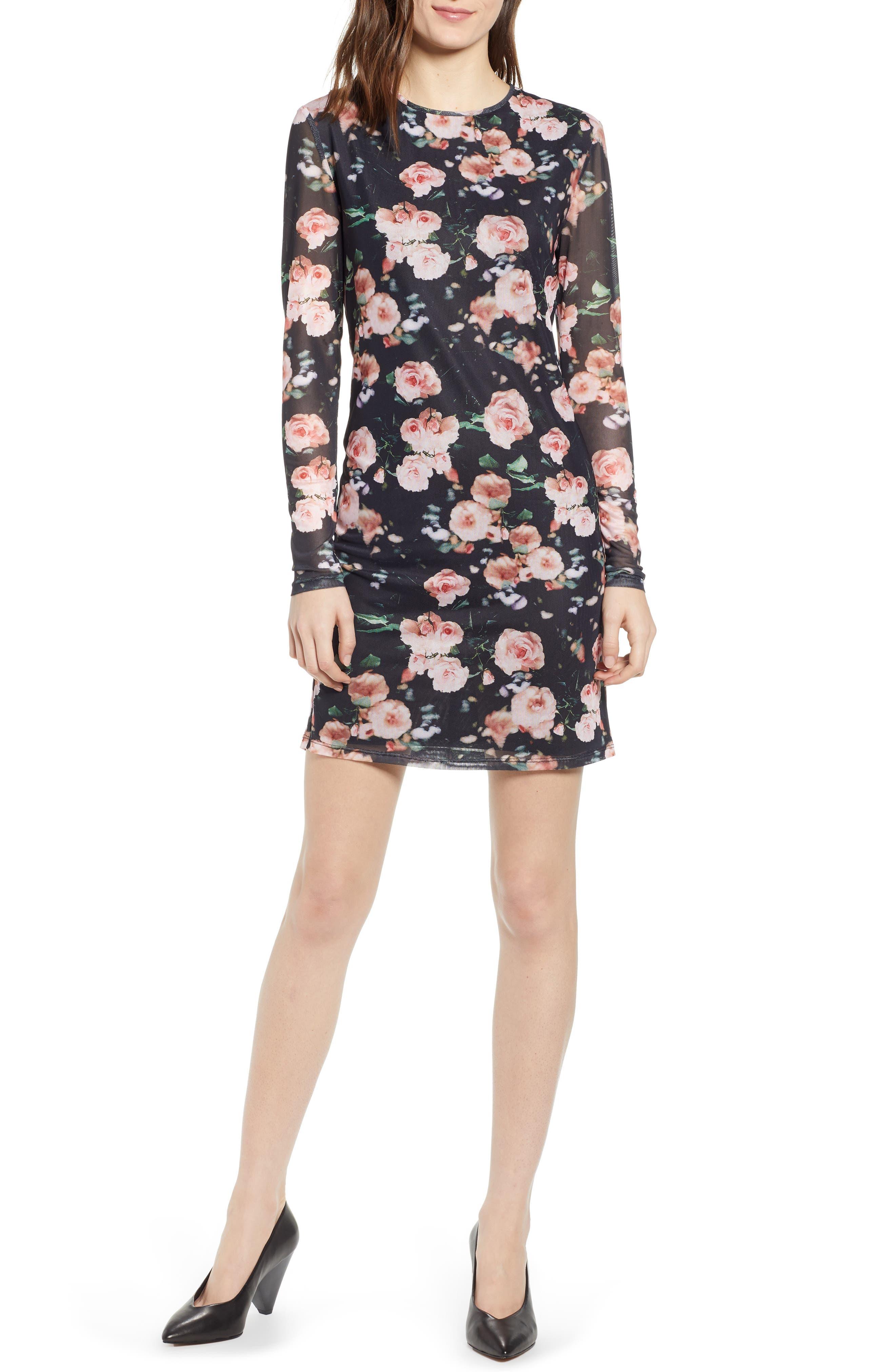 Rebecca Minkoff Phoebe Long Sleeve Sheath Dress, Black