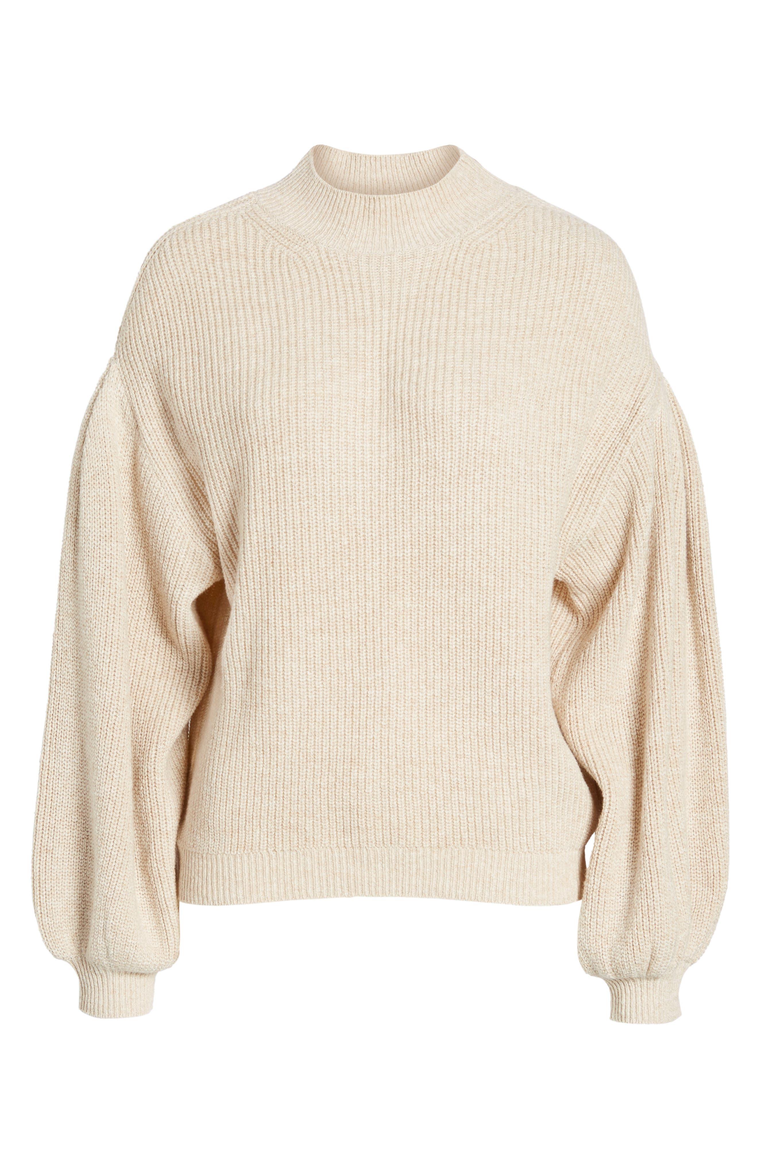 Blouson Sleeve Sweater,                             Alternate thumbnail 28, color,