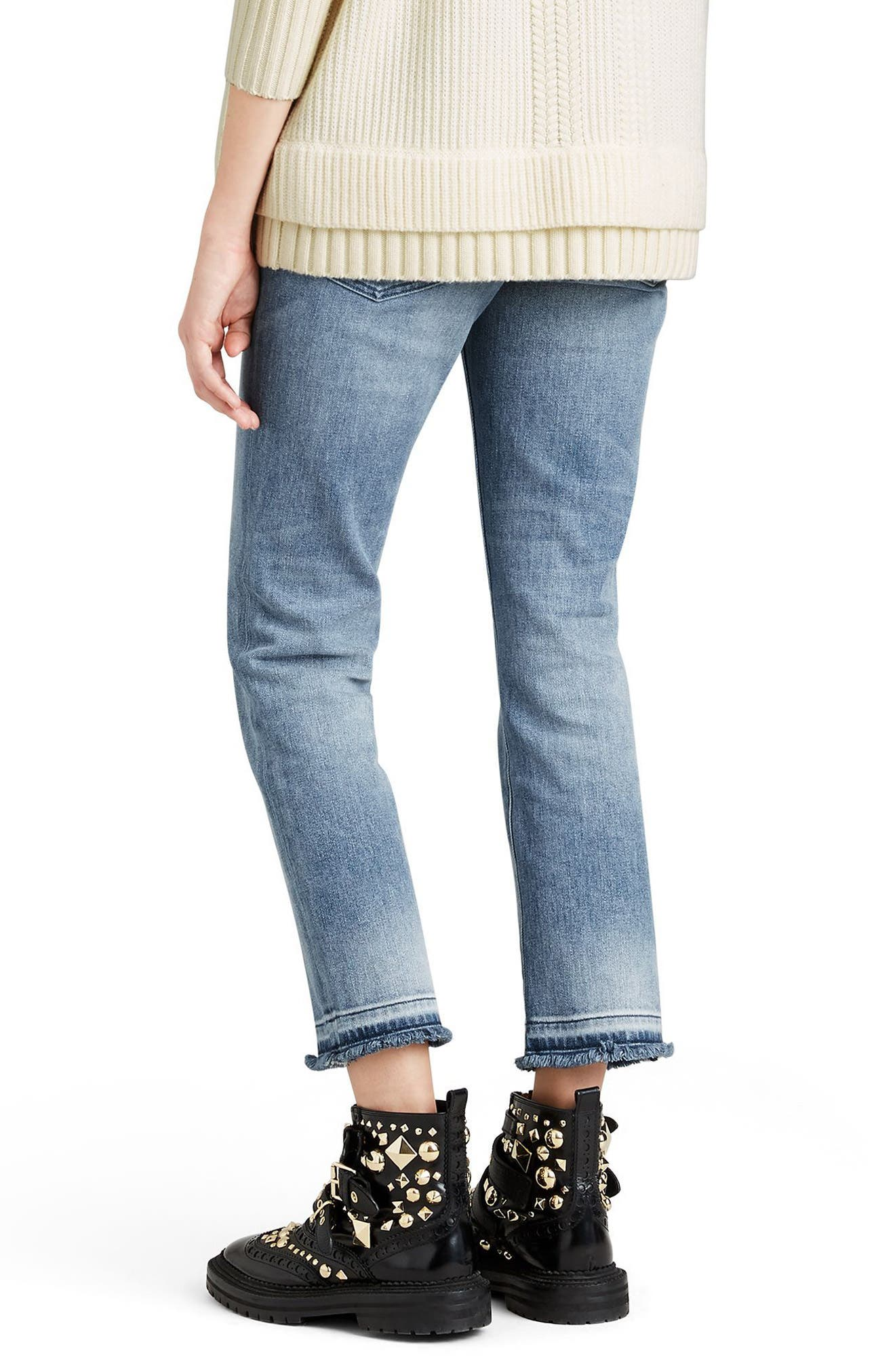 Relaxed Crop Jeans,                             Alternate thumbnail 2, color,                             456