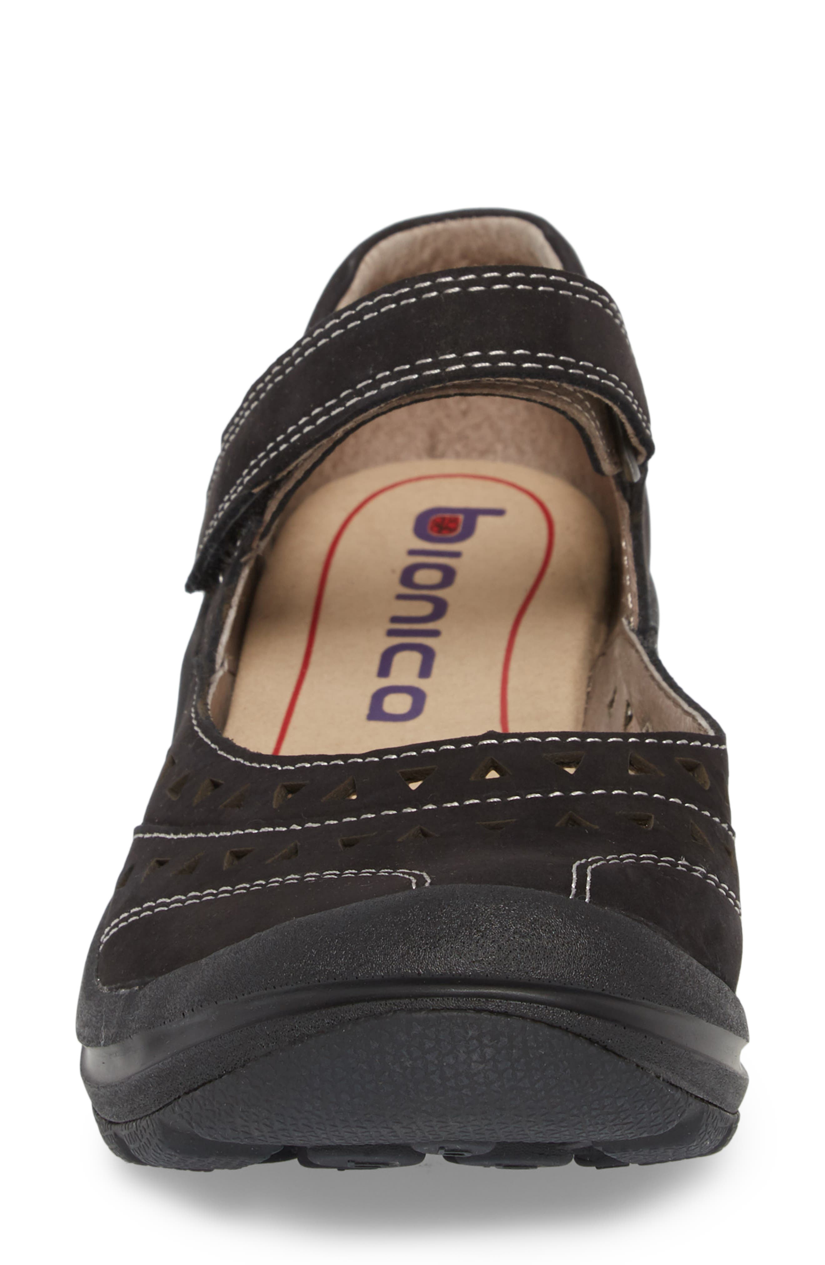 Matia Mary Jane Sneaker,                             Alternate thumbnail 4, color,                             BLACK LEATHER