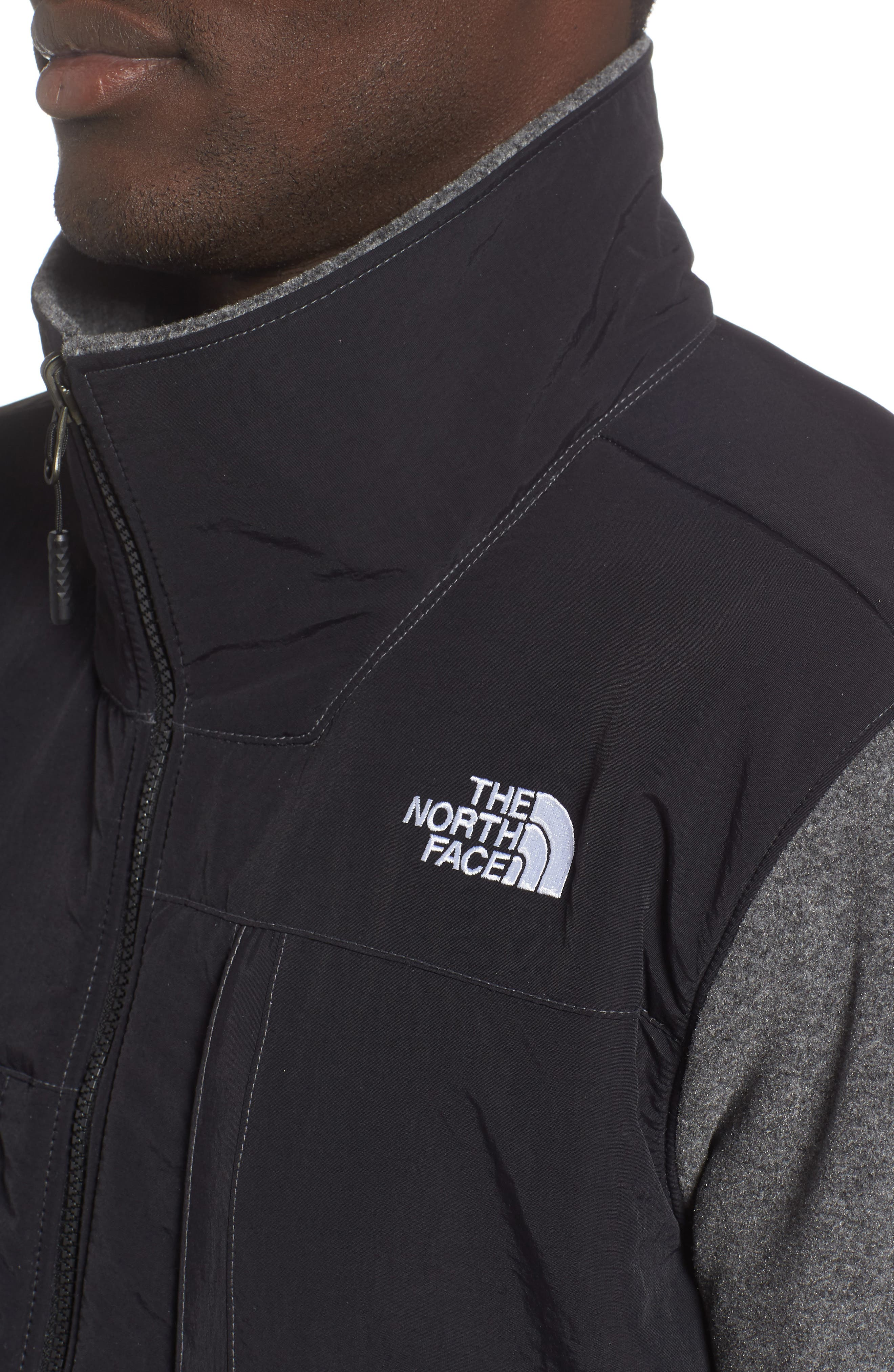 THE NORTH FACE,                             Denali 2 Jacket,                             Alternate thumbnail 4, color,                             RECYCLED CHARCOAL GREY HEATHER