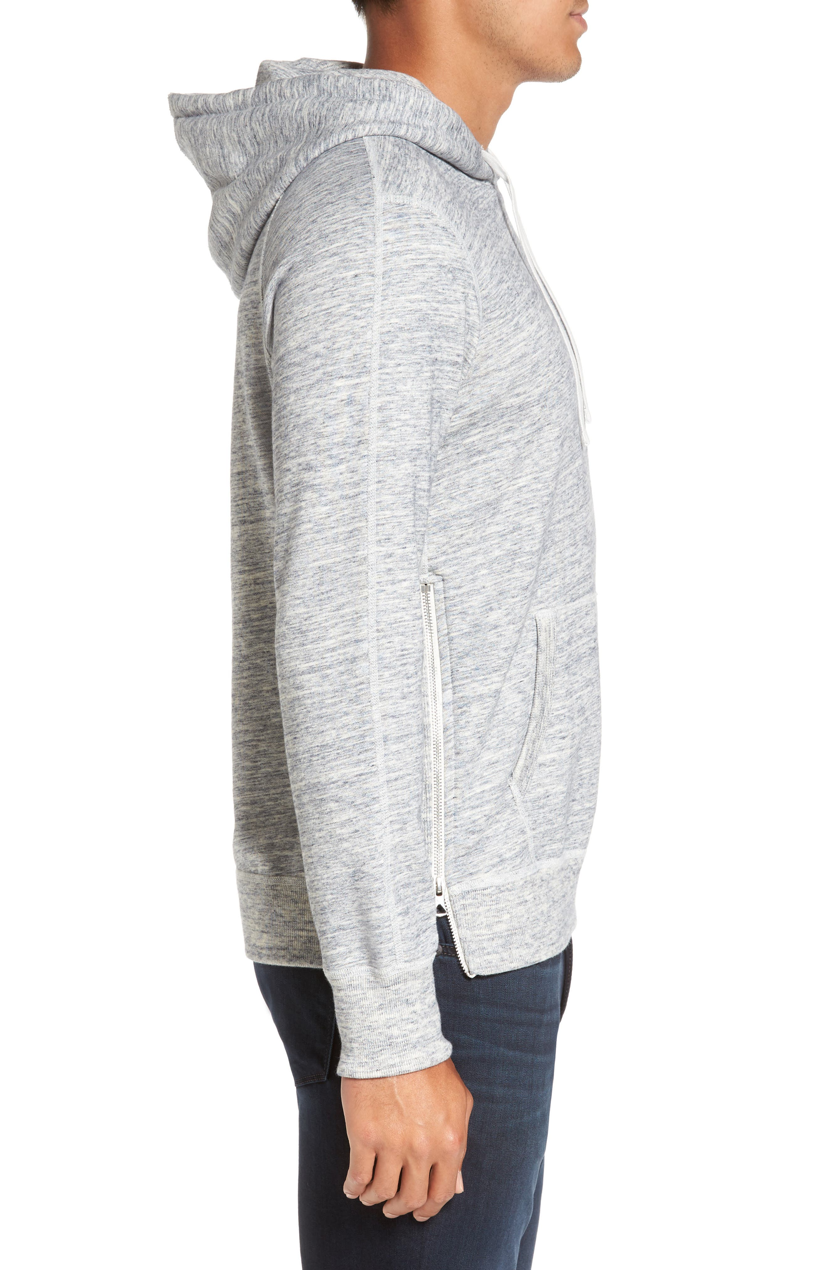 French Terry Hoodie,                             Alternate thumbnail 6, color,