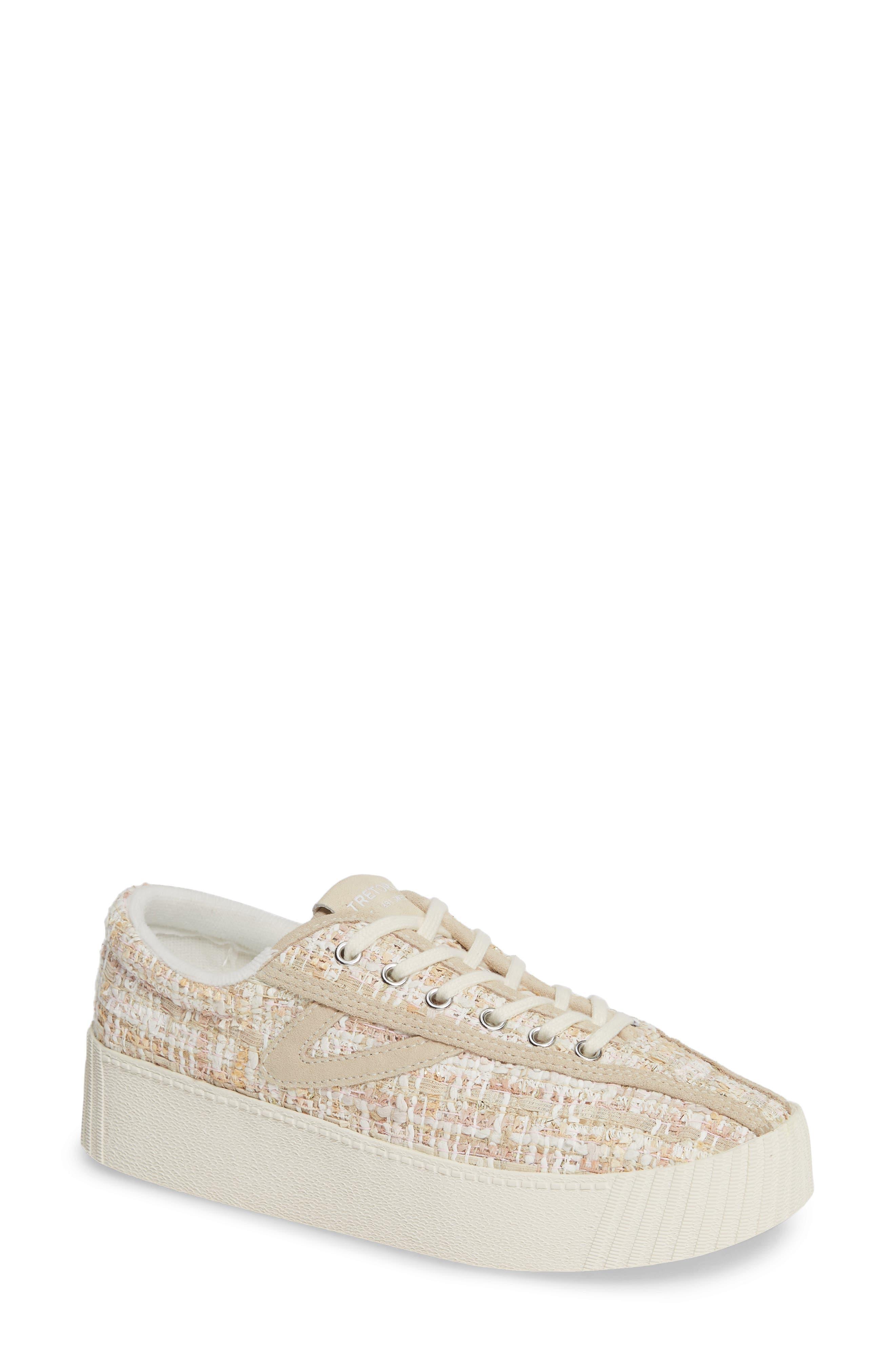 Bold Perforated Platform Sneaker,                             Main thumbnail 1, color,                             ROSADO/ CREAM