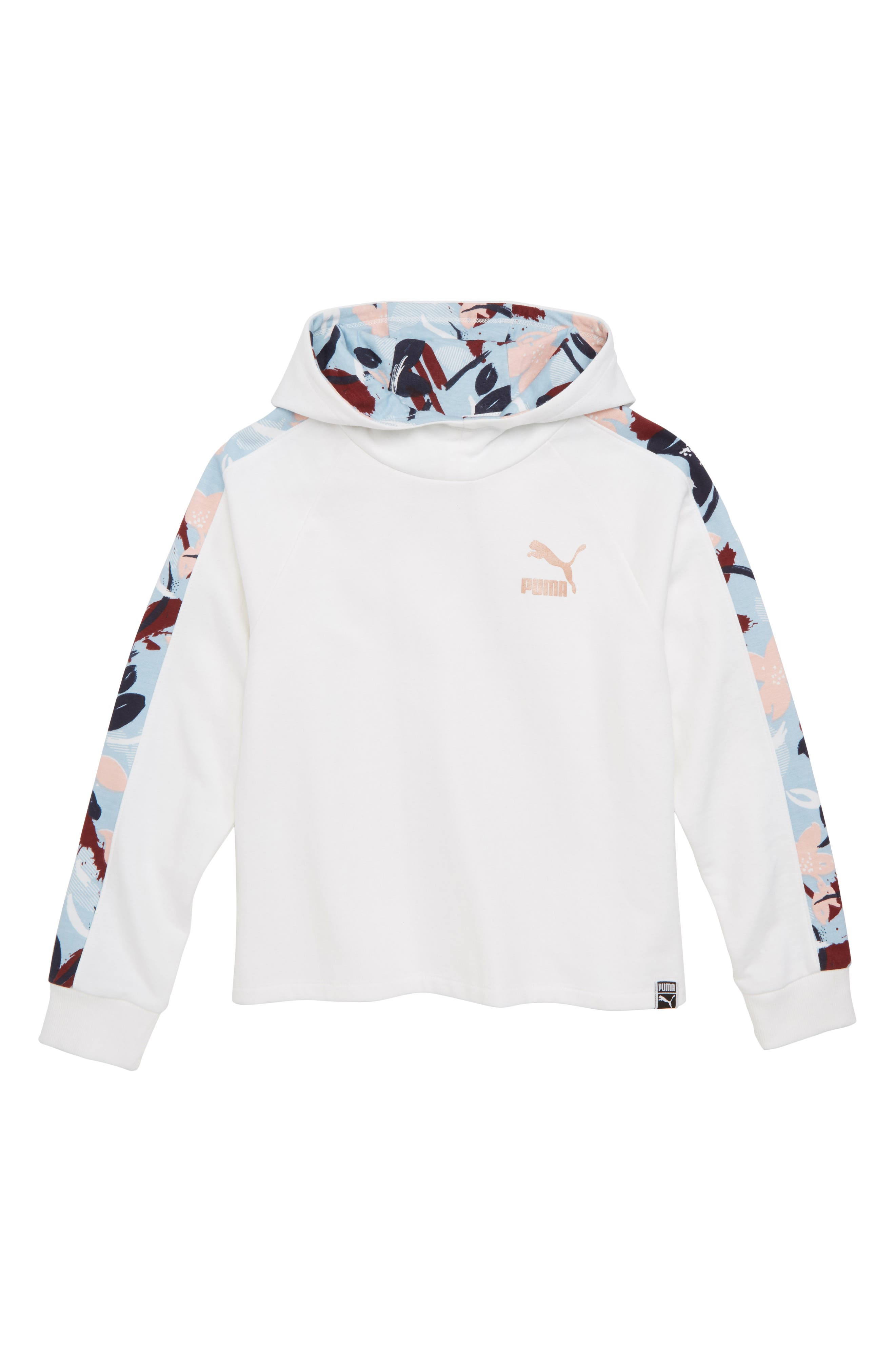 Pullover Hoodie,                         Main,                         color, PUMA WHITE