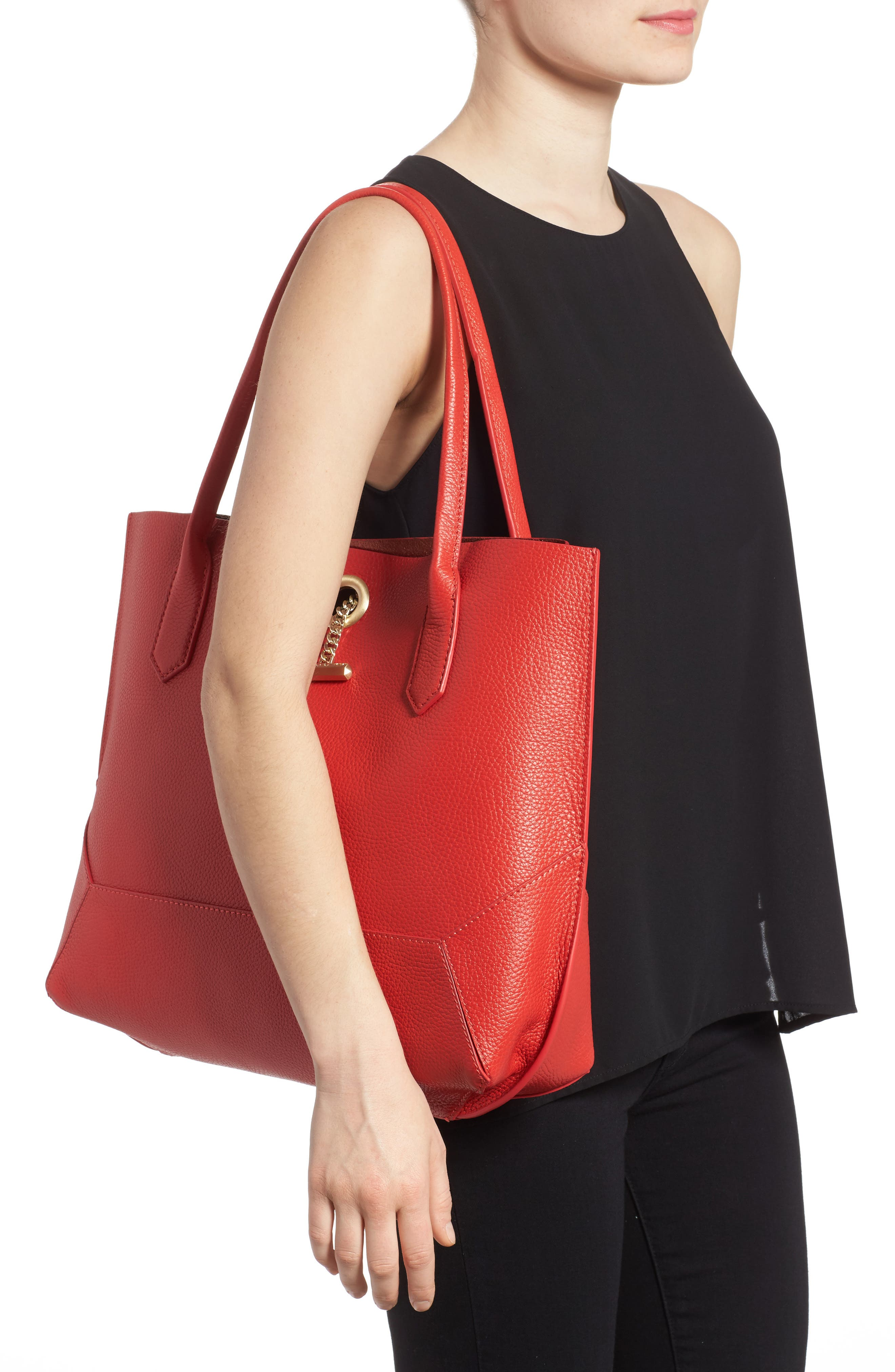 Waverly Leather Tote,                             Alternate thumbnail 16, color,