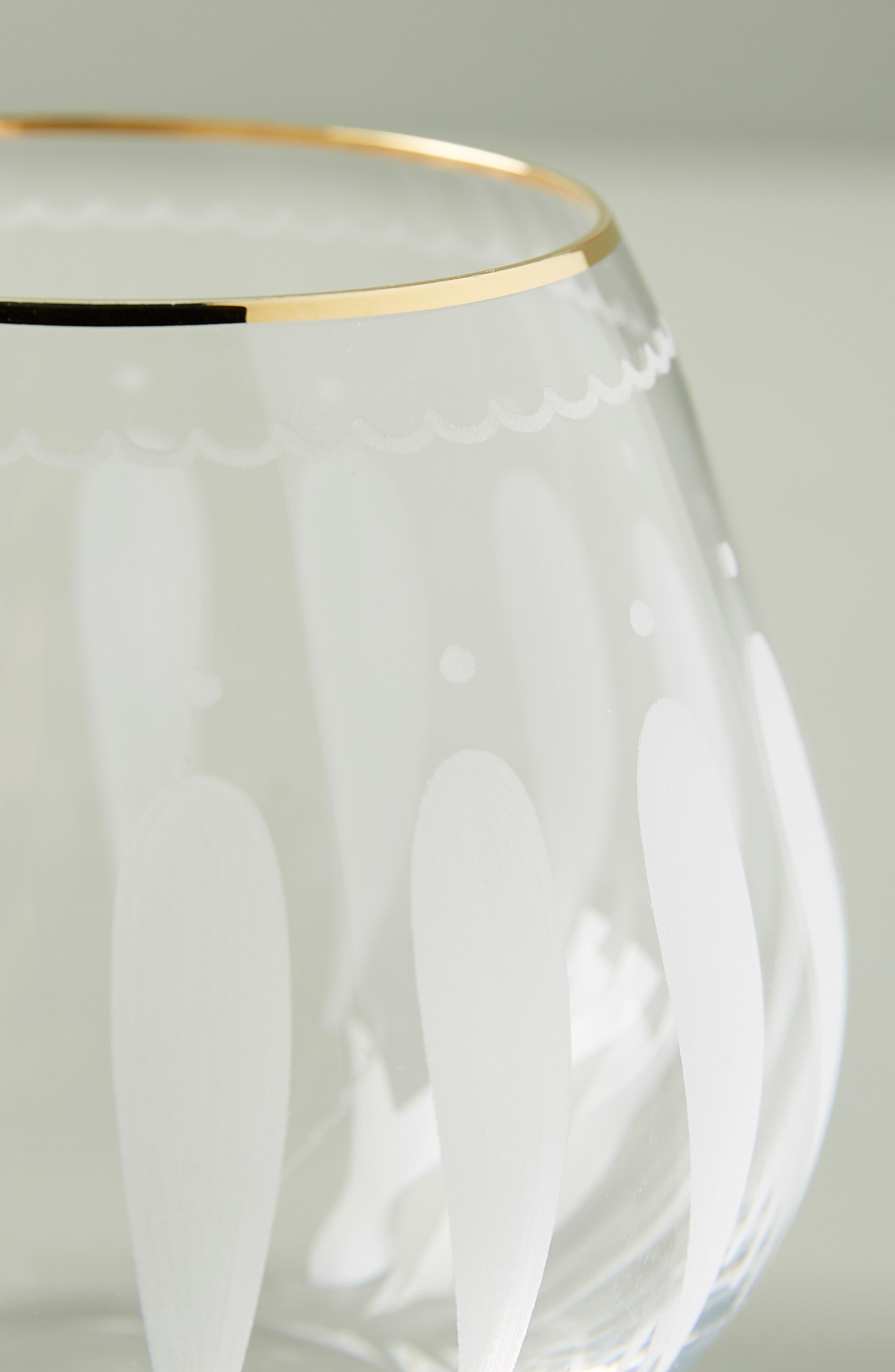 Odele Set of 4 Stemless Wine Glasses,                             Alternate thumbnail 2, color,                             CLEAR