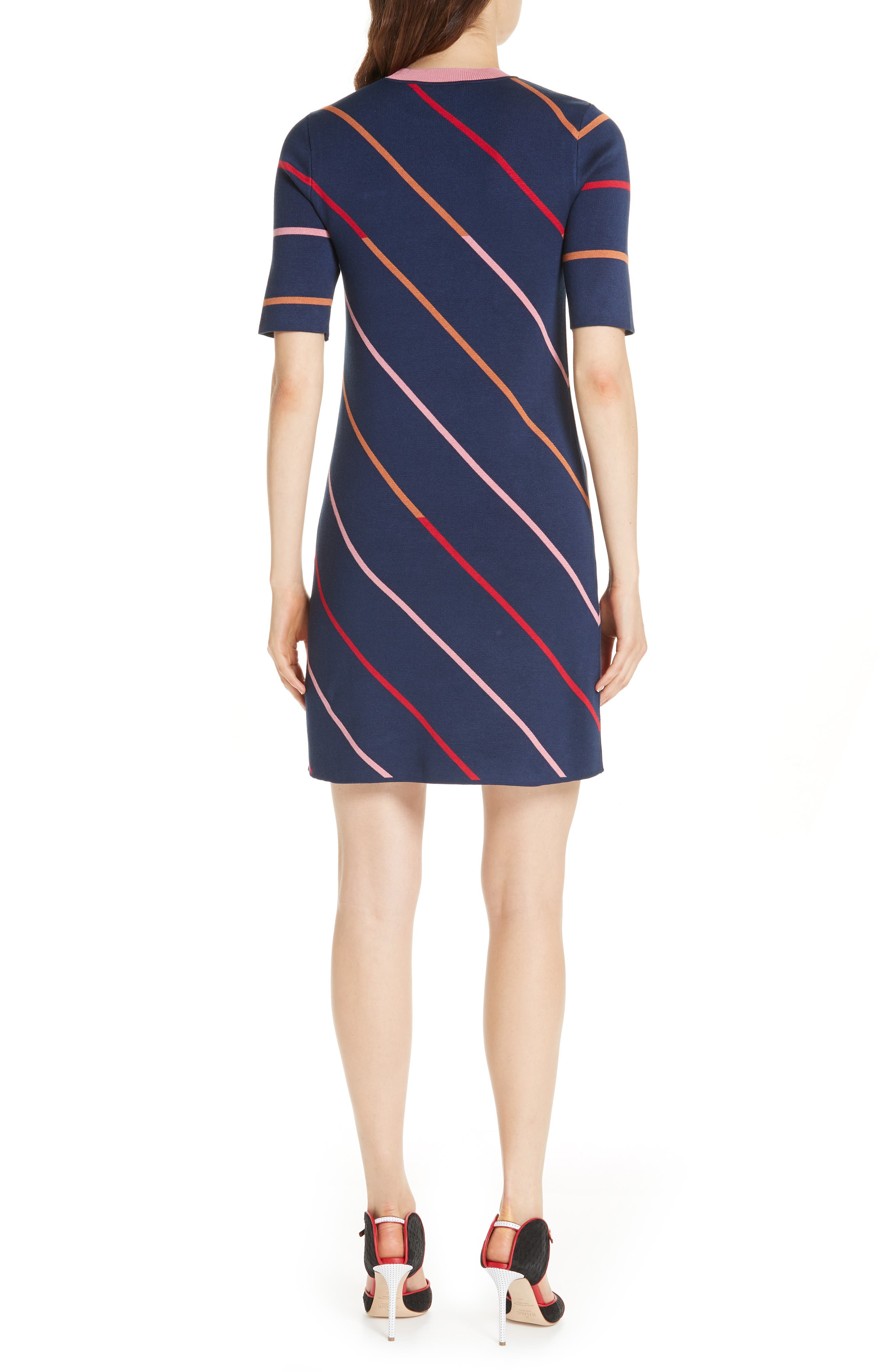 Colour by Numbers Pelinor Stripe Dress,                             Alternate thumbnail 2, color,                             410