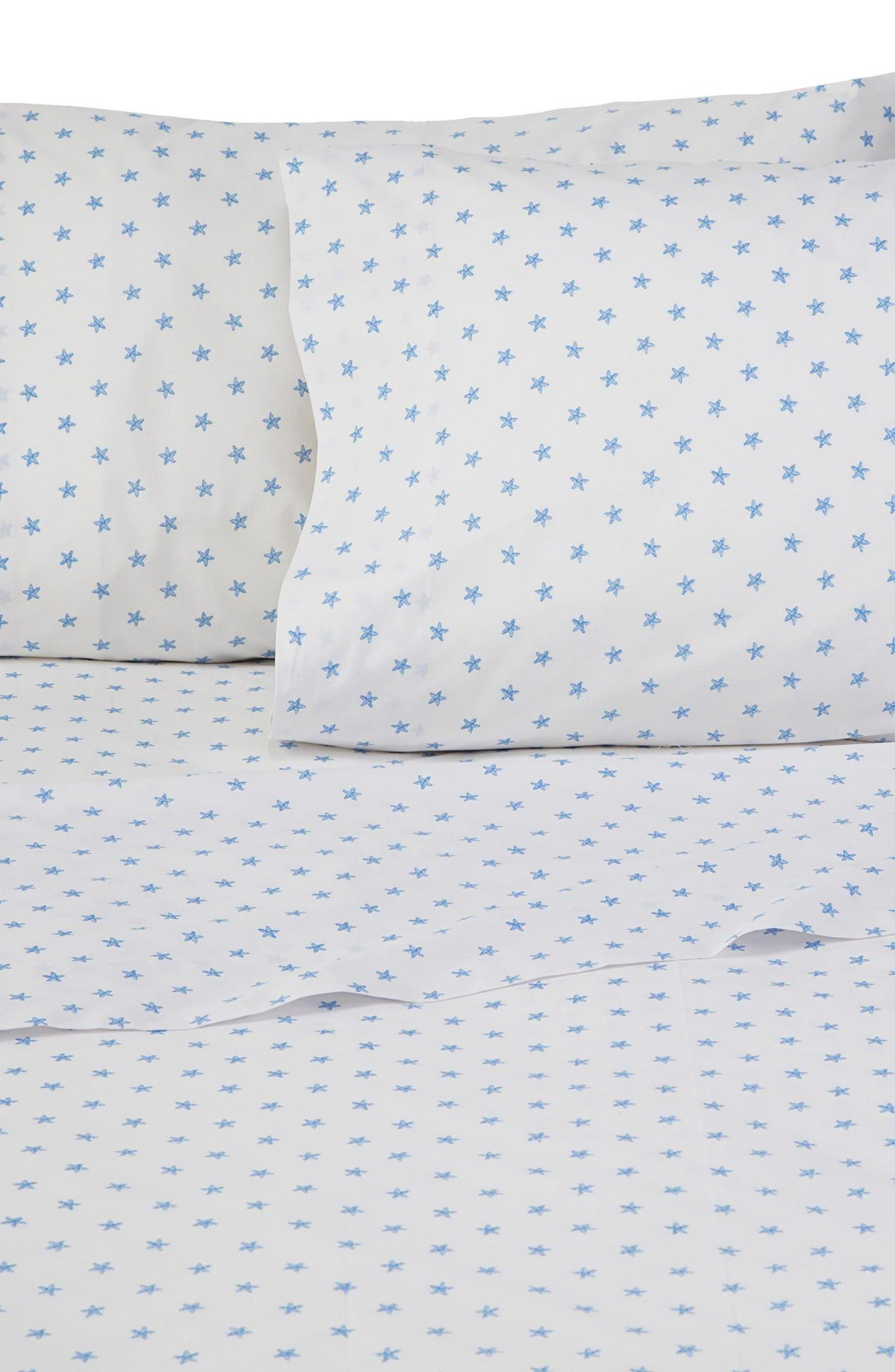 Sea Stars Pillowcases,                         Main,                         color, WHITE